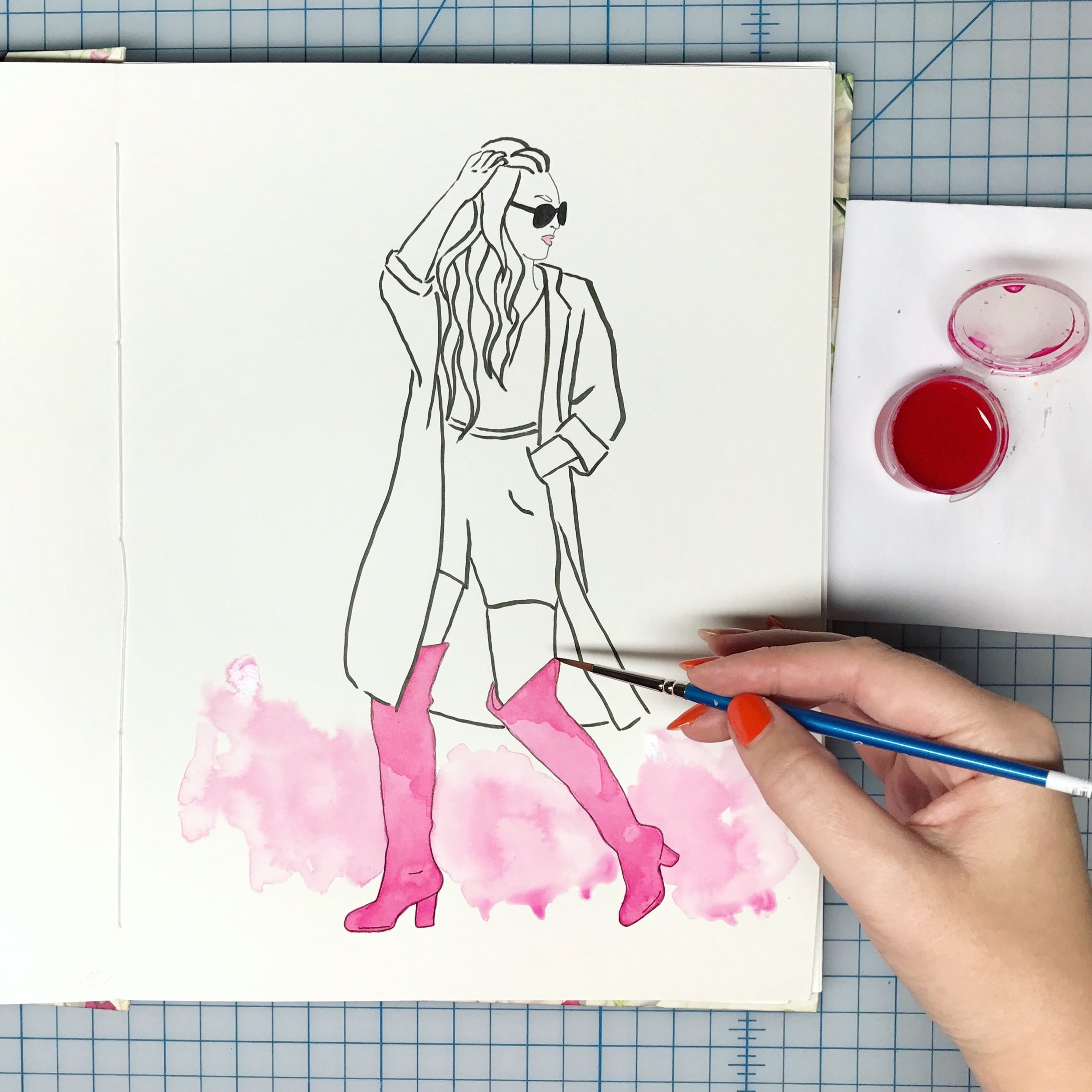 Inktober Fashion Illustration Boots
