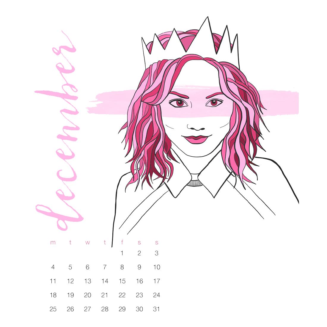 2017 Fashion Illustration Calendar by BrownPaperBunny