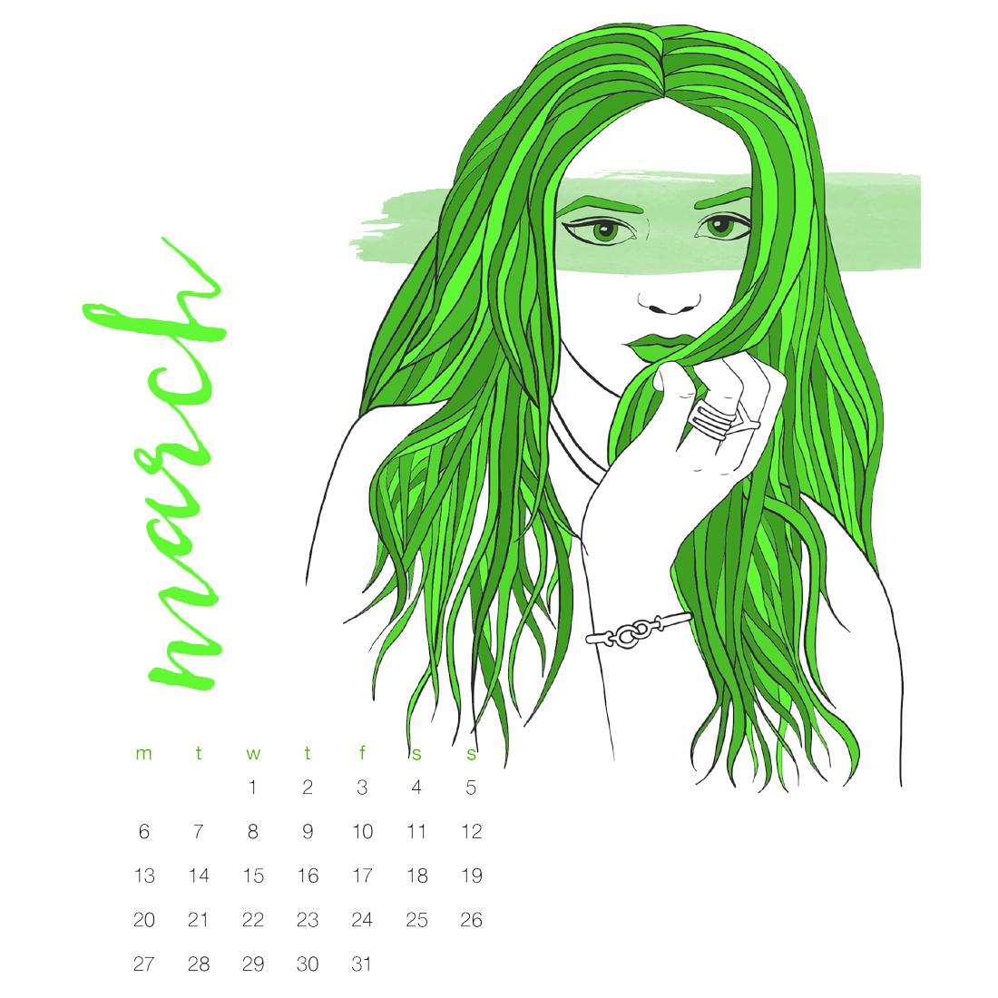 2017 Illustrated Fashion Illustration Calendar