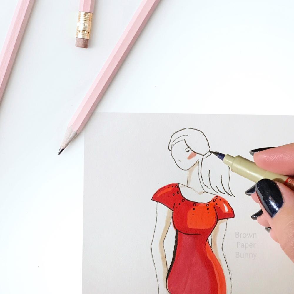 Live Fashion Sketching BrownPaperBunny