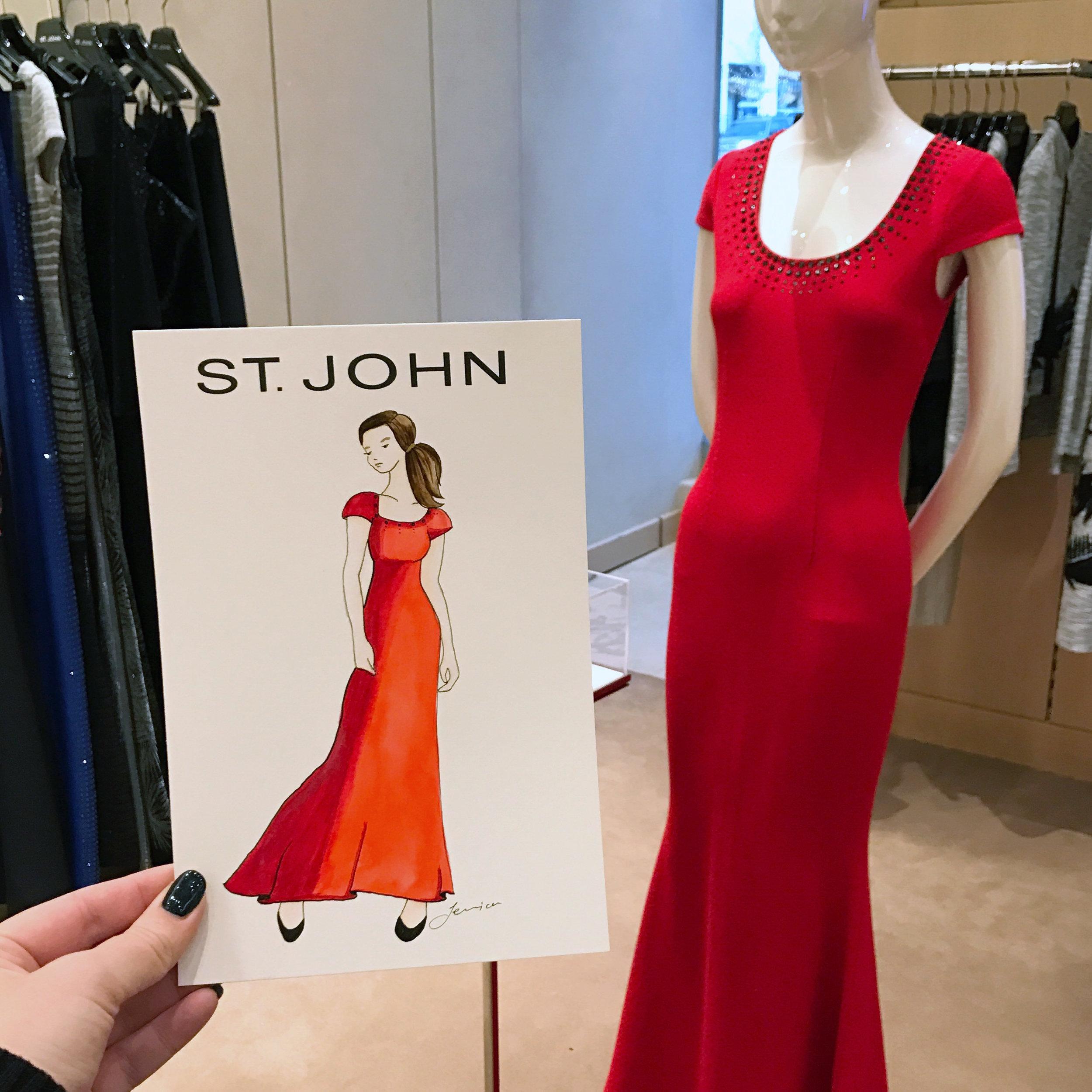St John Knits Live Fashion Sketch Event