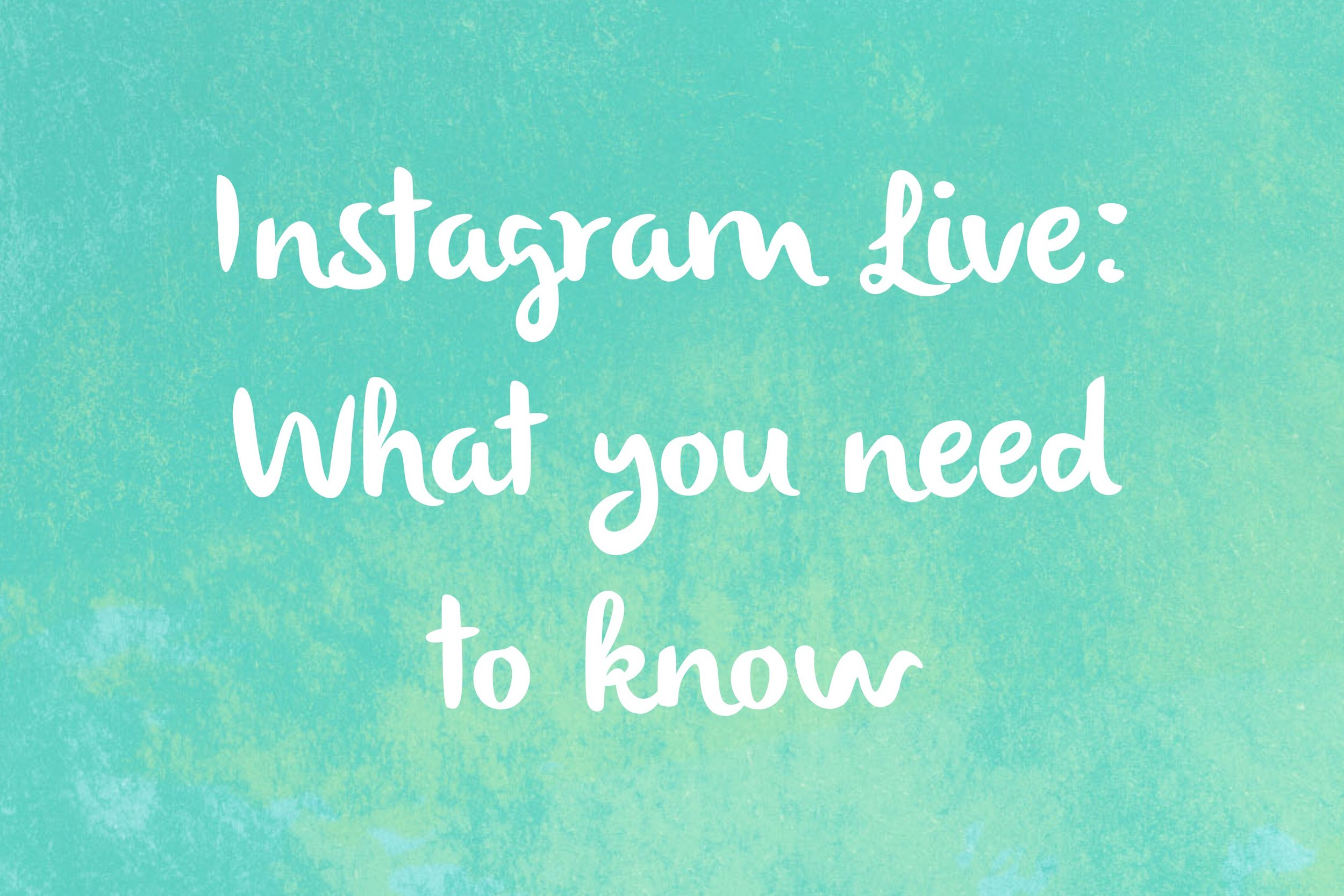 How to Use Instagram Live Video