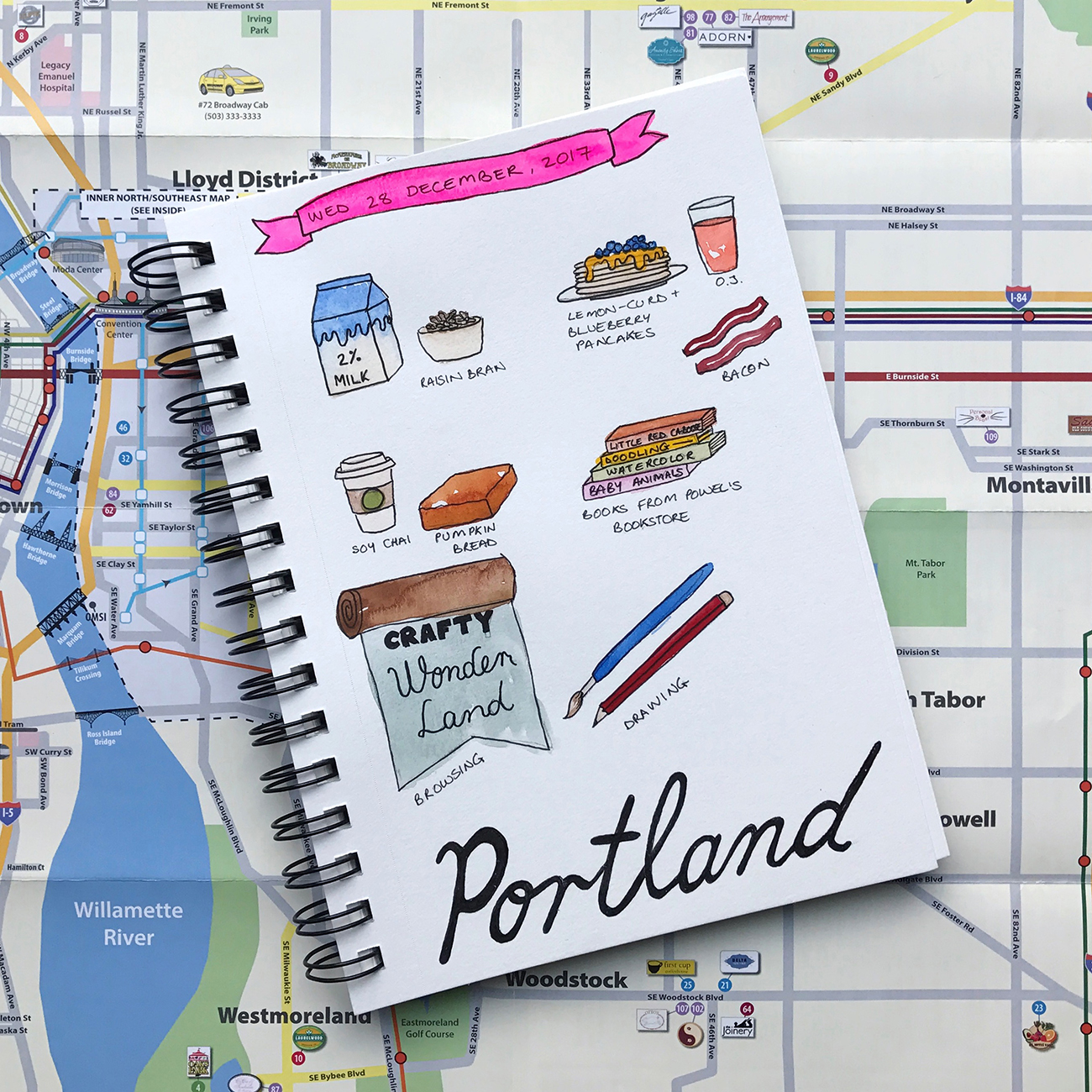 Travel Sketches by Brown Paper Bunny