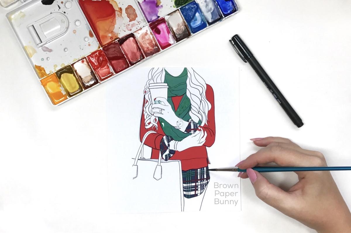 Fashion Illustration Friday by BrownPaperBunny