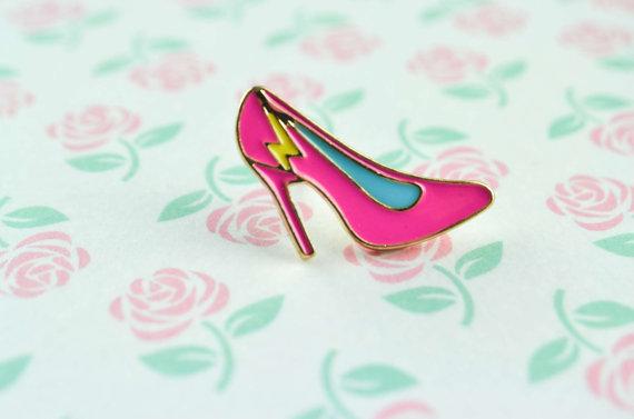 Pink Heel Enamel Pin.jpg