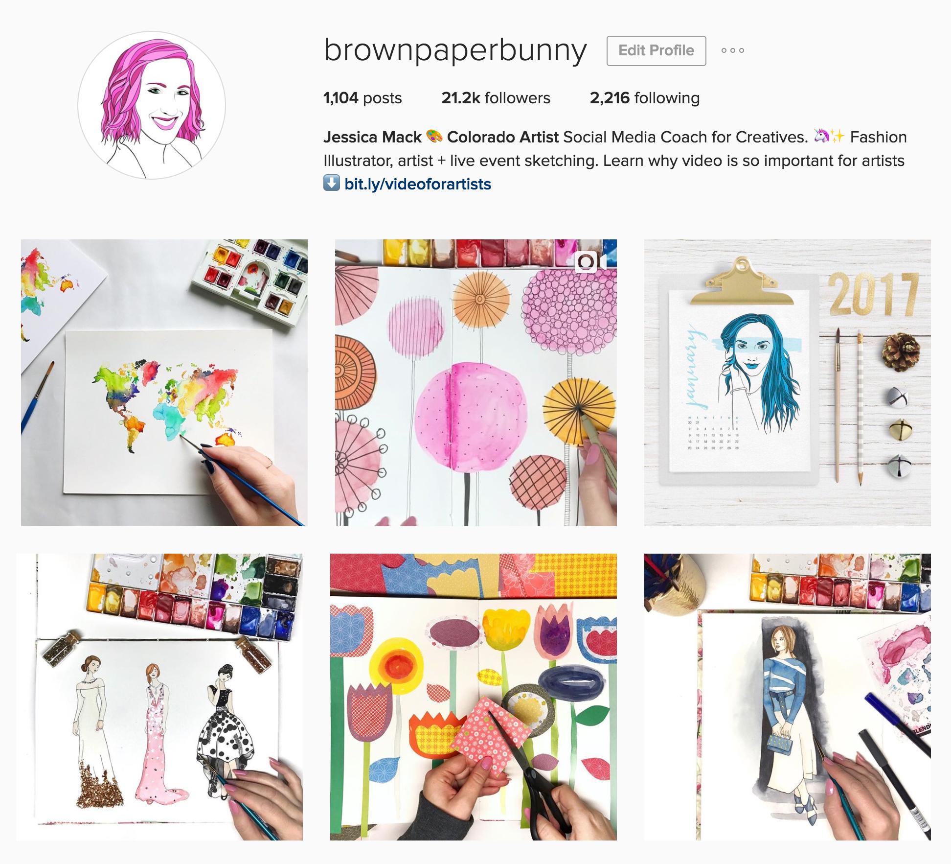 BrownPaperBunny Artist and Fashion Illustrator on Instagram