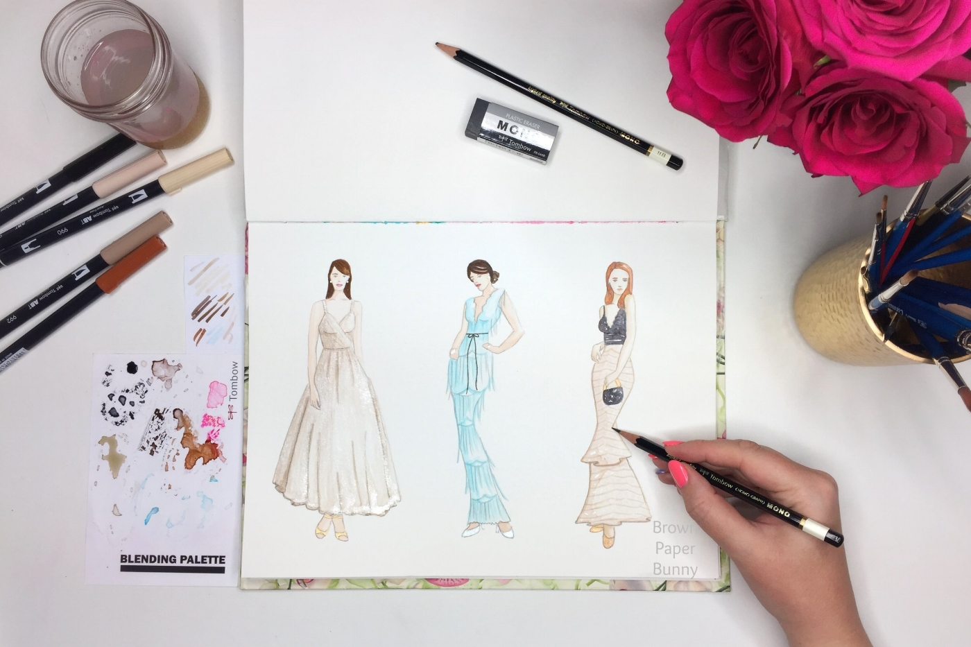Fashion Illustration Oscars 2017 Red Carpet by BrownPaperBunny