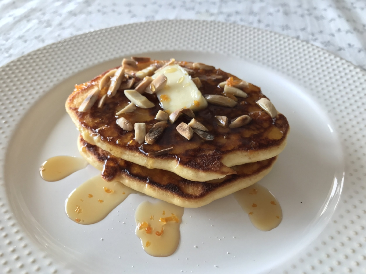 Orange Almond Pancakes