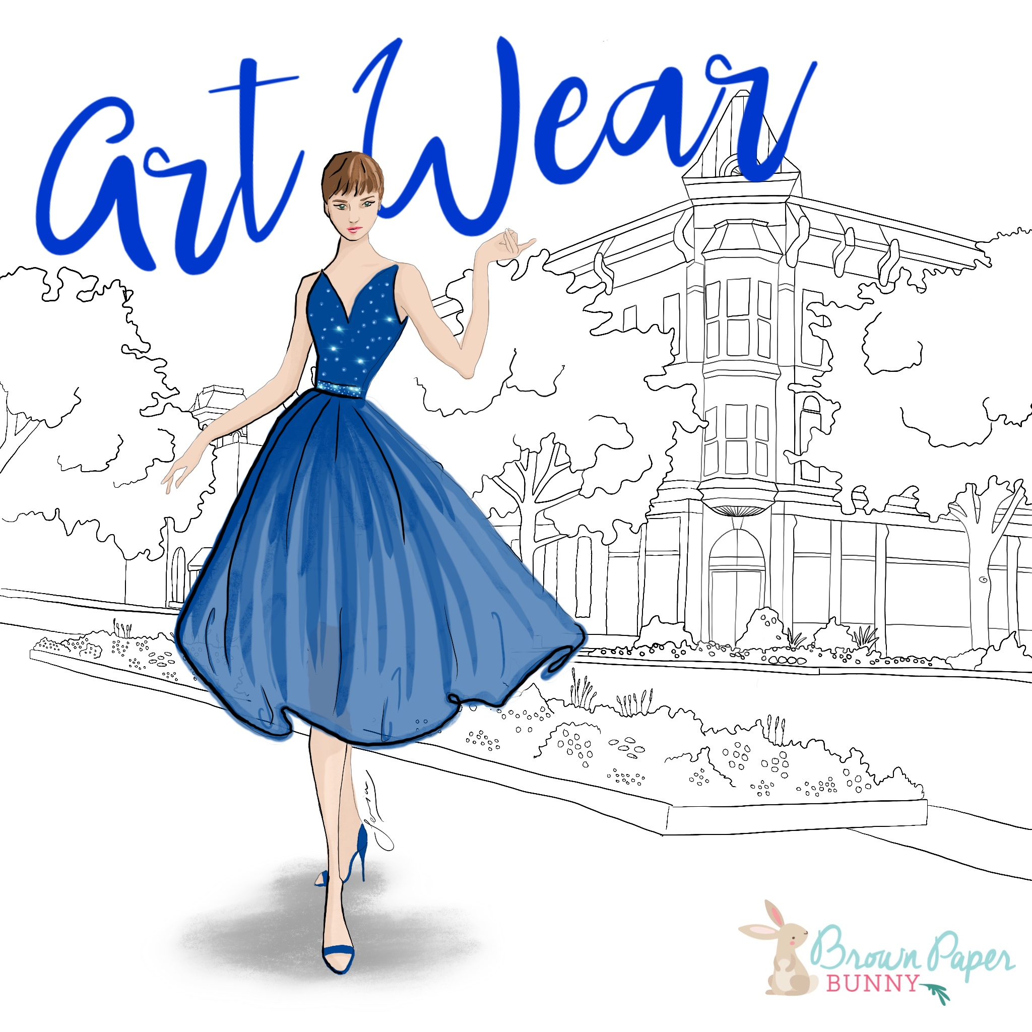 Event iPad Fashion Illustration by BrownPaperBunny