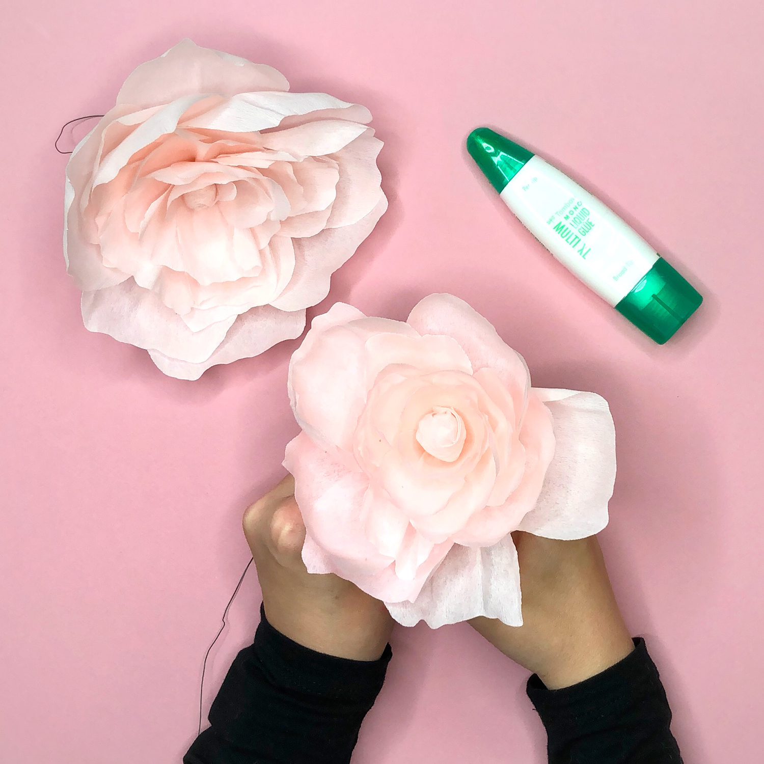 Easy to Make Crepe Paper Flowers by Jessica Mack of BrownPaperBunny