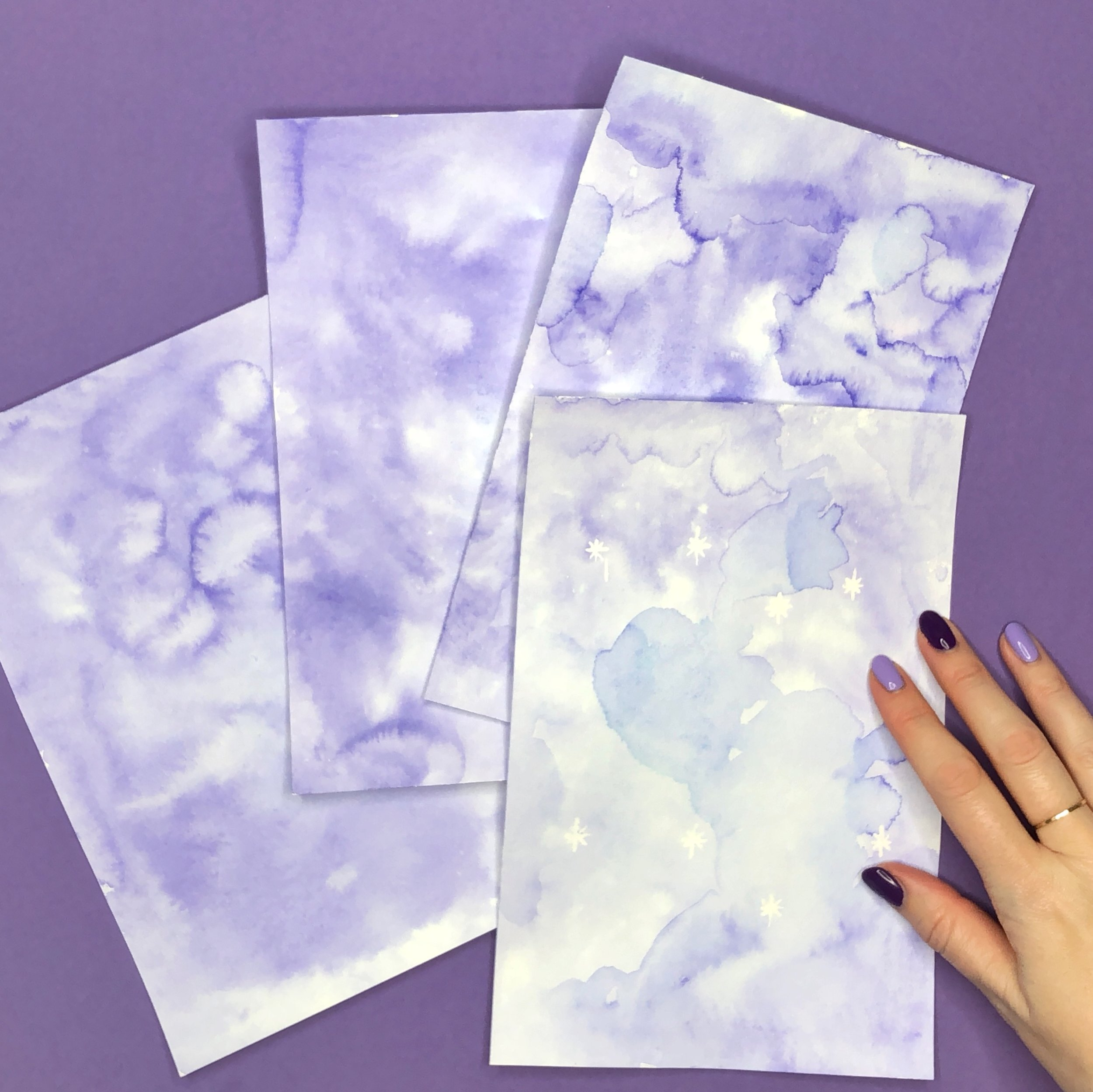 Easy to Make Ultra Violet Nursery Wall Art by Jessica Mack of BrownPaperBunny