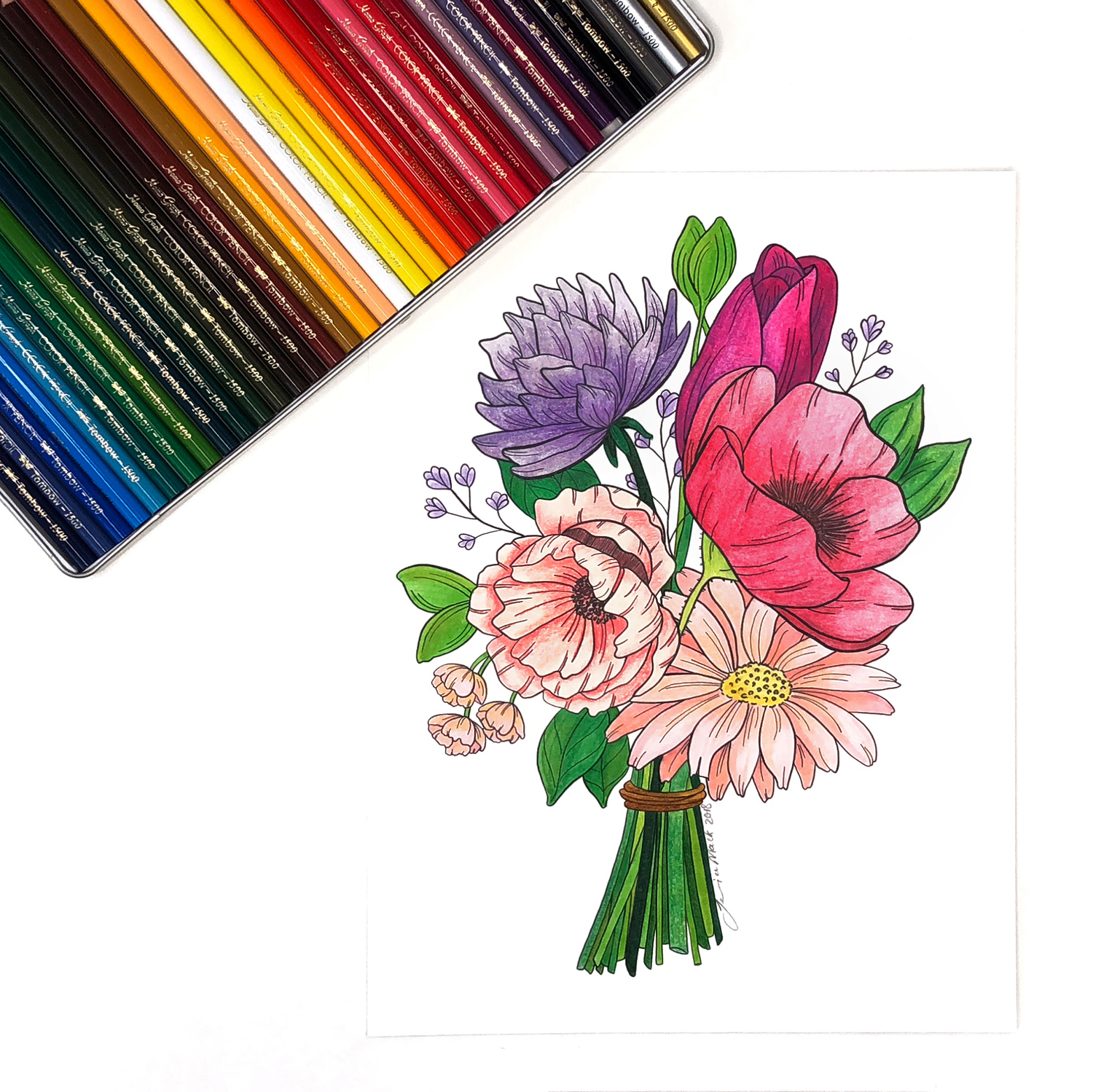 3 Tips for Using Colored Pencils by Jessica Mack of BrownPaperBunny