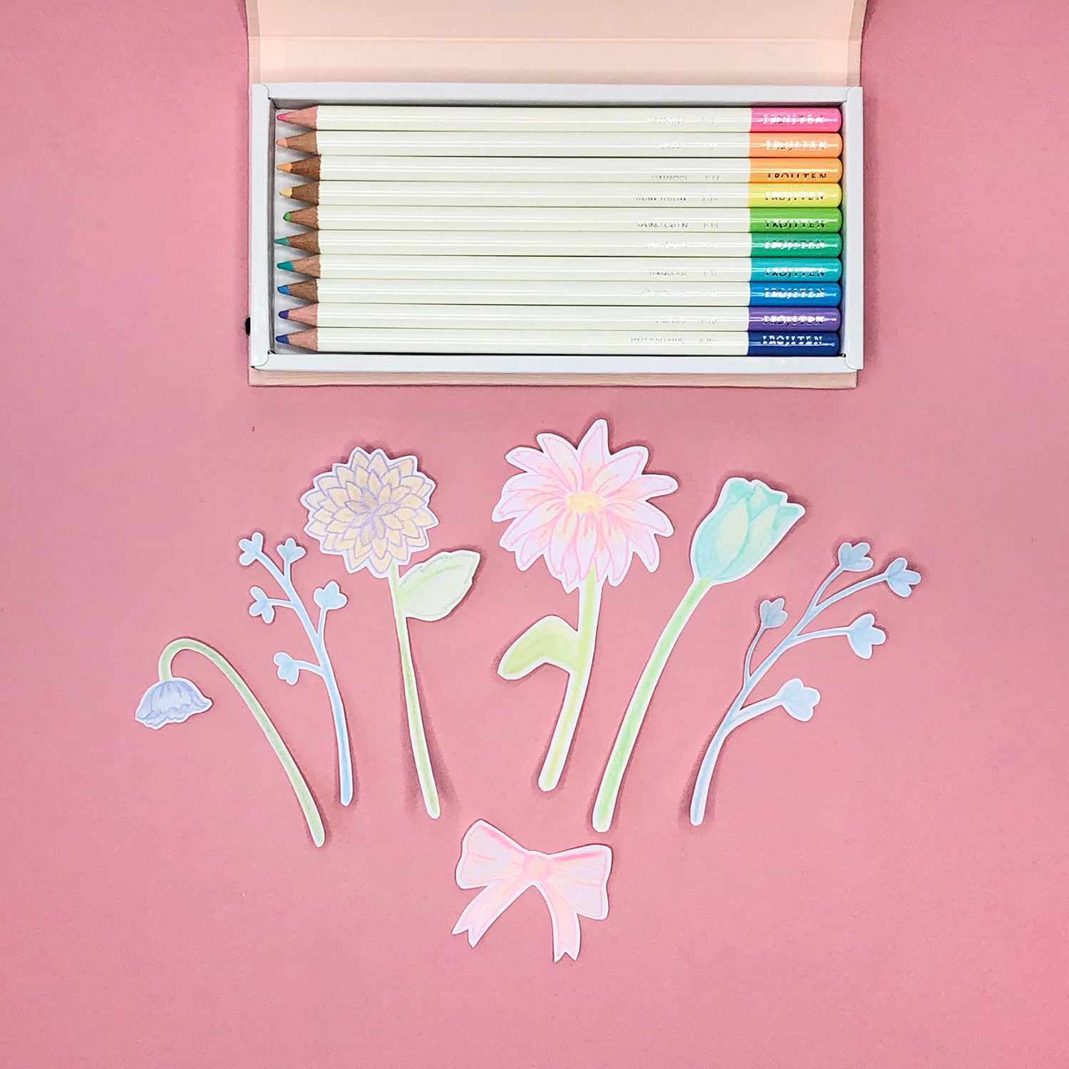 Make Your Own Cute Colored Pencil Cards for Spring, by Jessica Mack of BrownPaperBunny