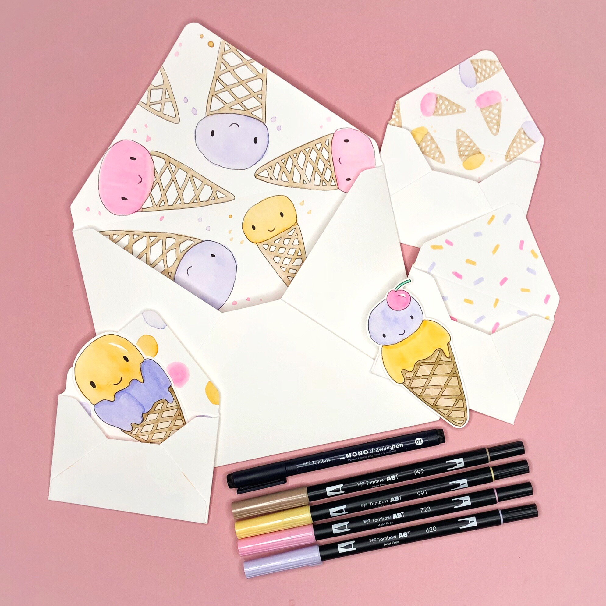 Summer Happy Mail: Make Your Own Envelopes by Jessica Mack of BrownPaperBunny