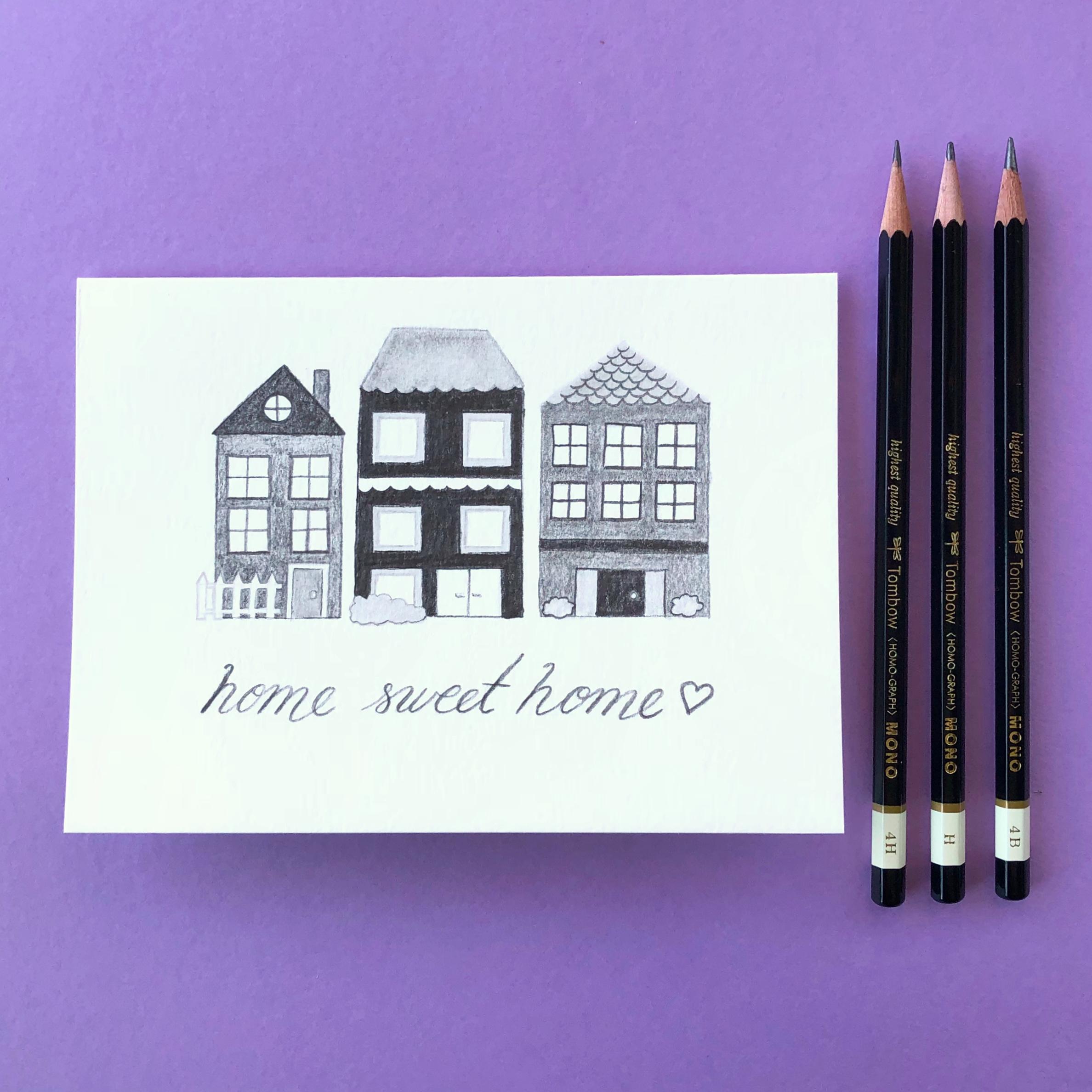 Make a Pencil Housewarming Card by Jessica Mack of BrownPaperBunny