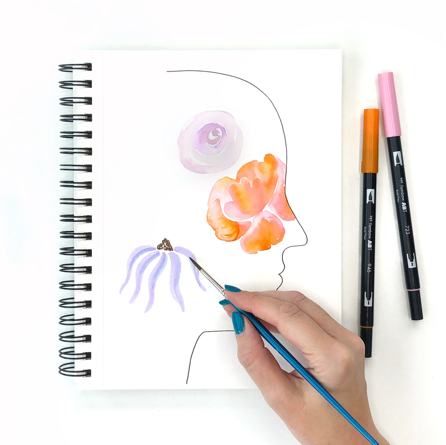 Create a Floral Self-Portrait with Jessica Mack of BrownPaperBunny