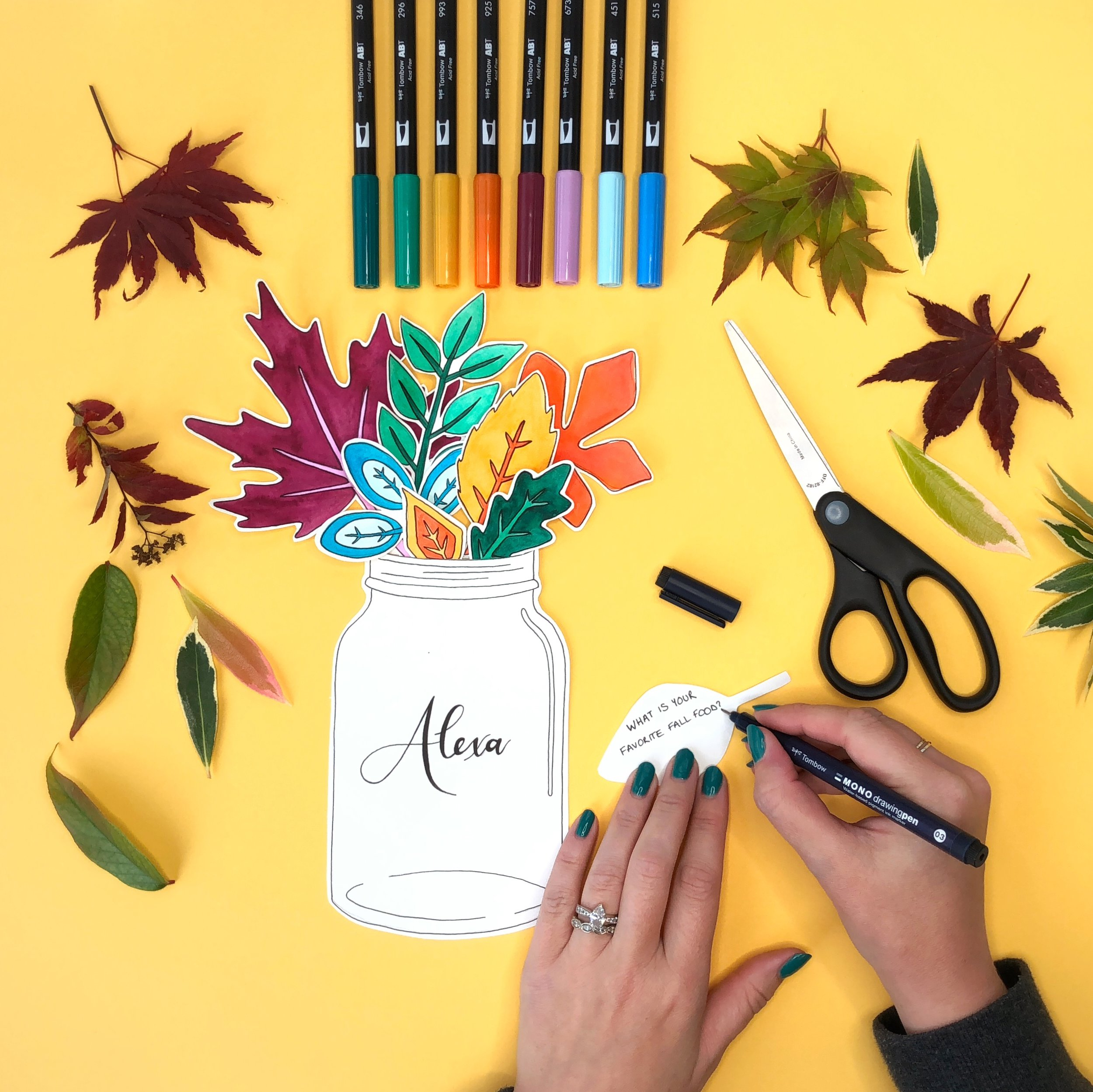 Make Fall Leaf Place Cards with Jessica Mack of BrownPaperBunny