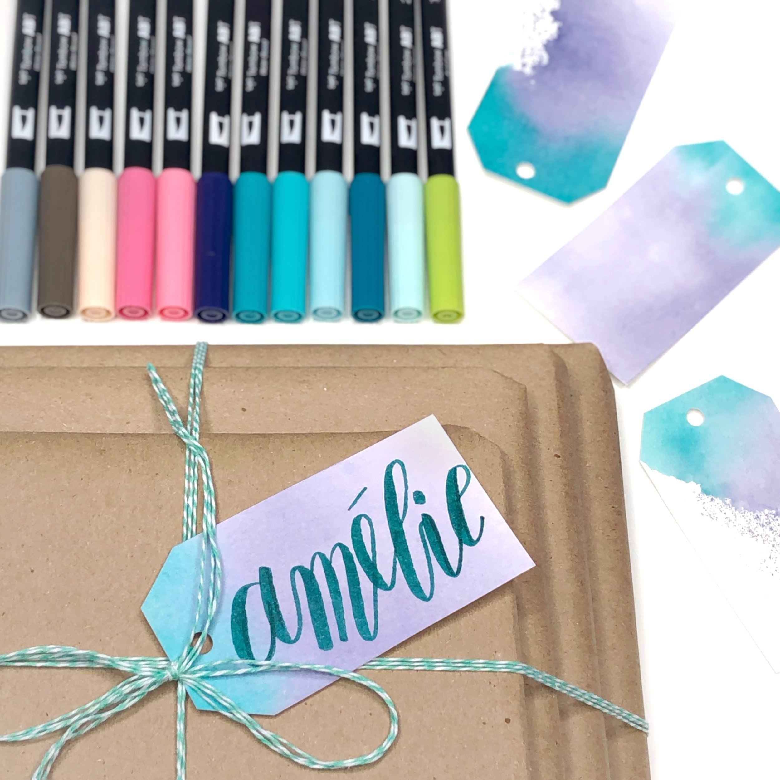 Watercolor Gift Tags by Jessica Mack of BrownPaperBunny