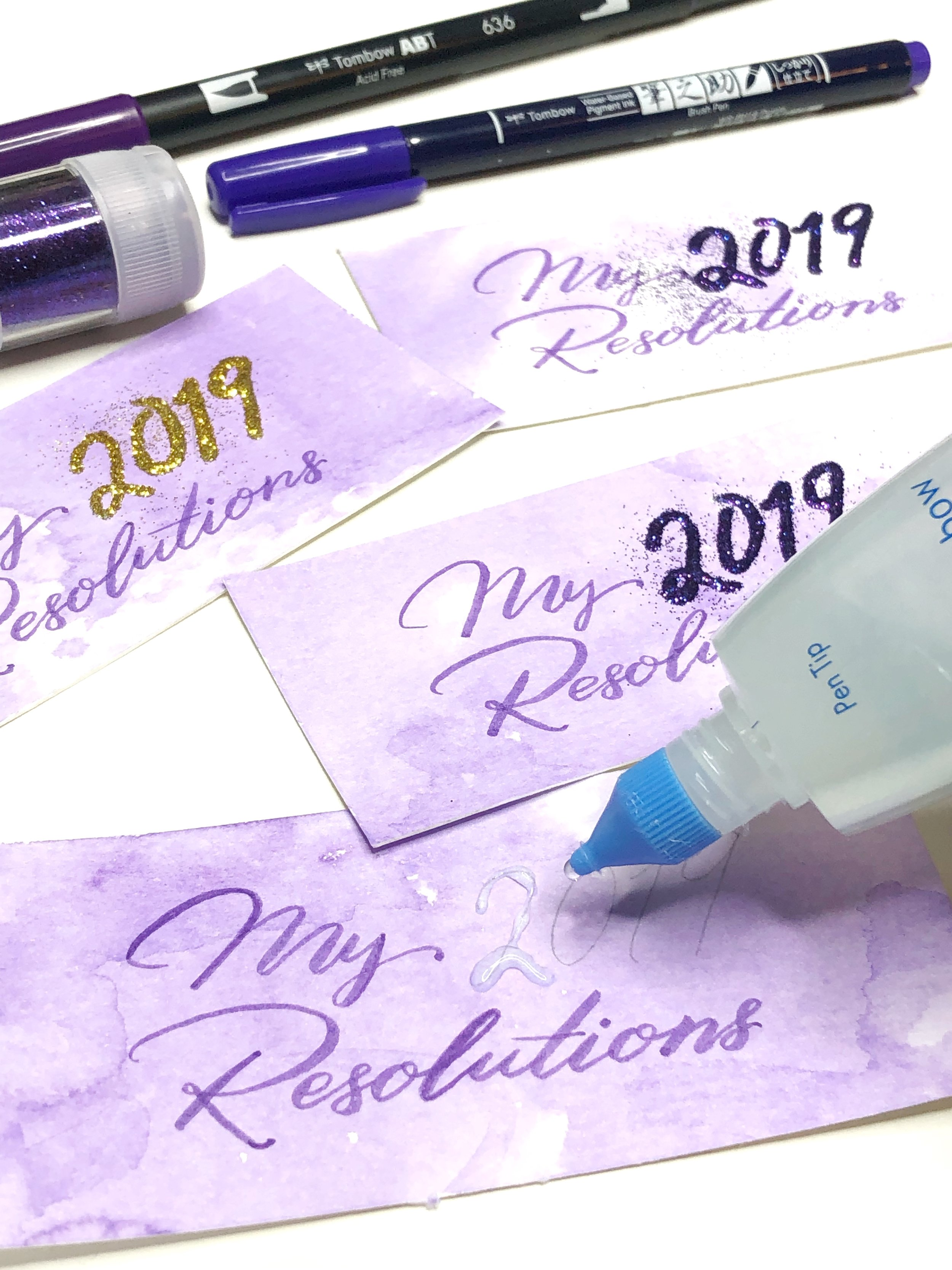 New Year's Resolution Cards by Jessica Mack of BrownPaperBunny