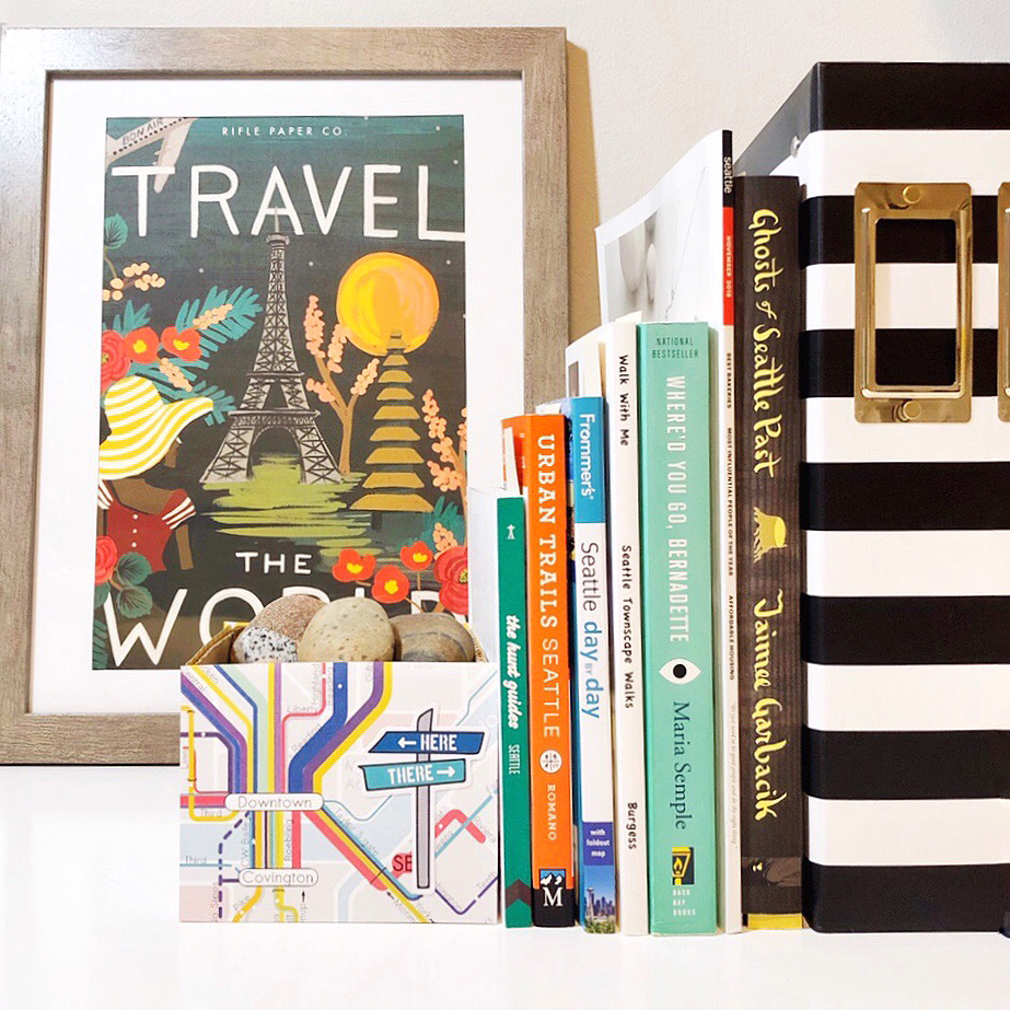 Make Bookends with Scrapbooking Paper by Jessica Mack of BrownPaperBunny