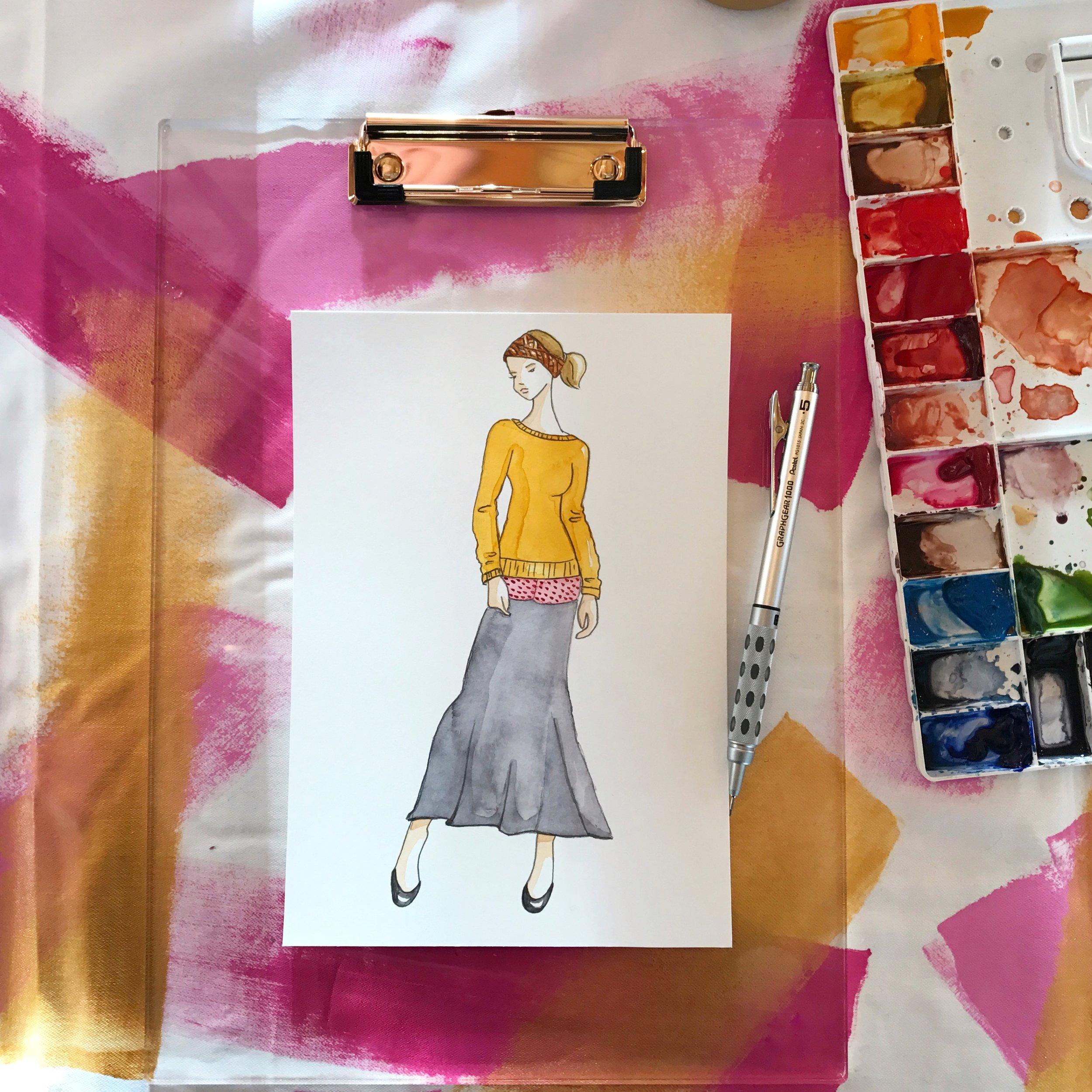 Fashion-Sketch-BrownPaperBunny.JPG
