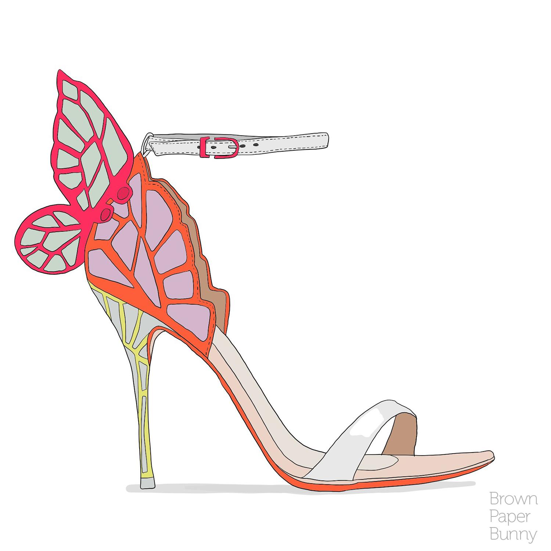 Digital shoe illustration, personal project.