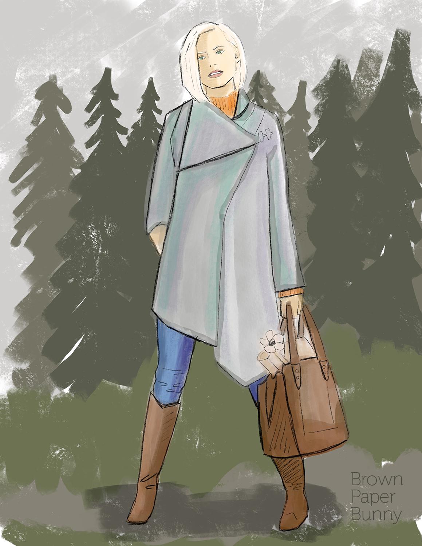 Digital fashion illustration, personal project.
