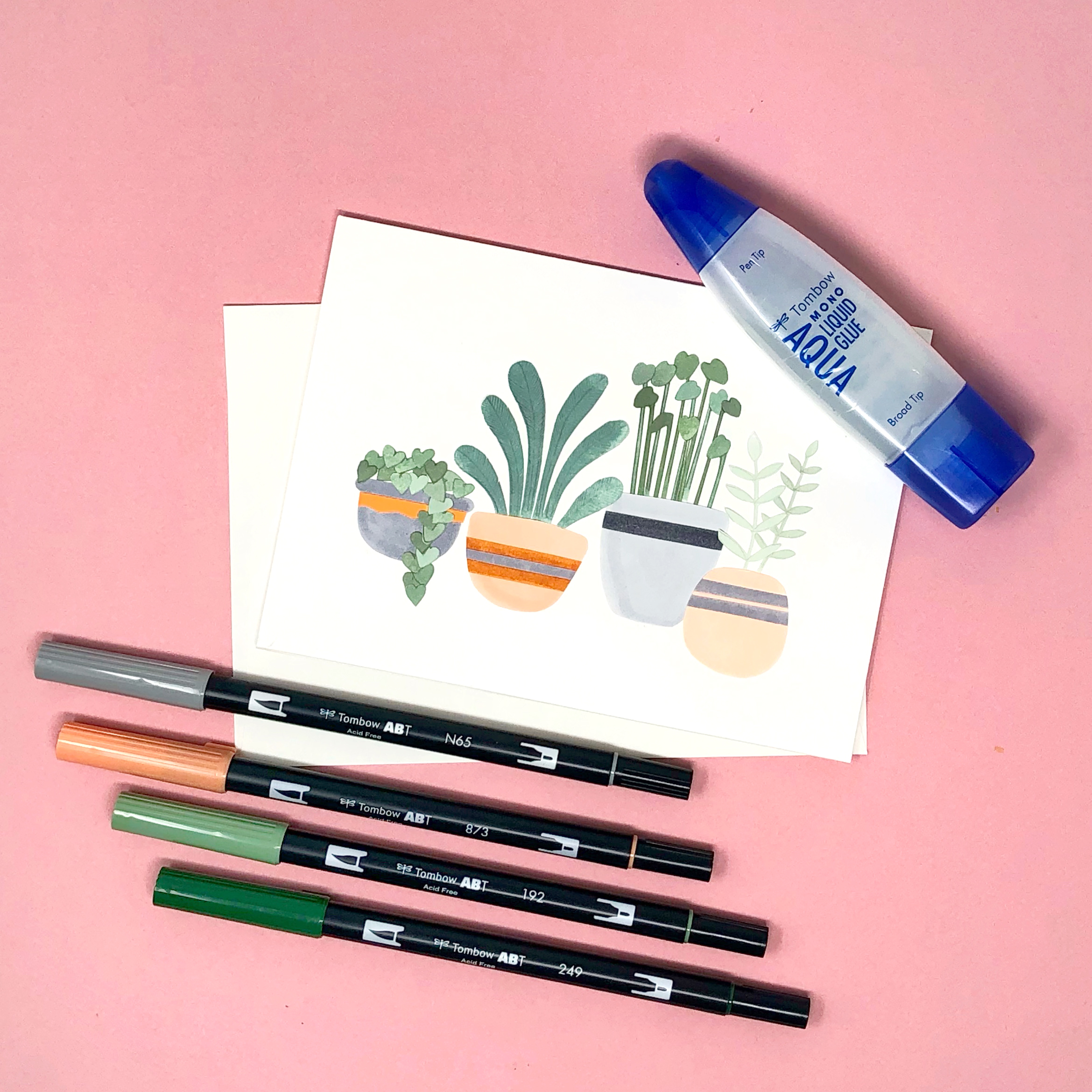 DIY Collage Plant Card by Jessica Mack of BrownPaperBunny