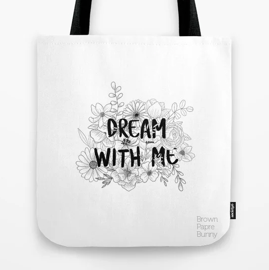 Dream With Me floral text developed for licensing
