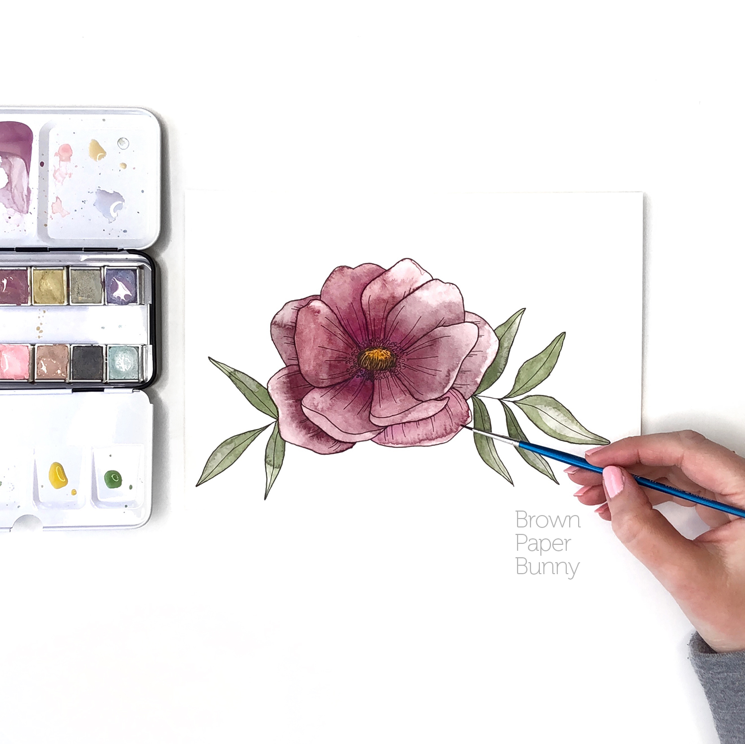 Watercolor floral created on behalf of Prima Watercolors