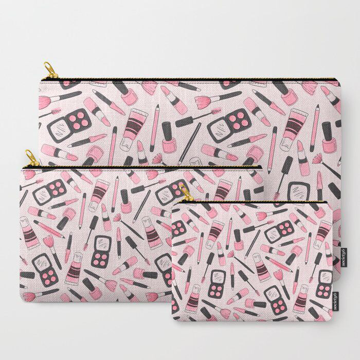Make Me Up illustrated make-up bag / pencil case / pouch by Jessica Mack of BrownPaperBunny