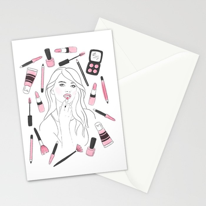 Make Me Up illustrated greeting card by Jessica Mack of BrownPaperBunny