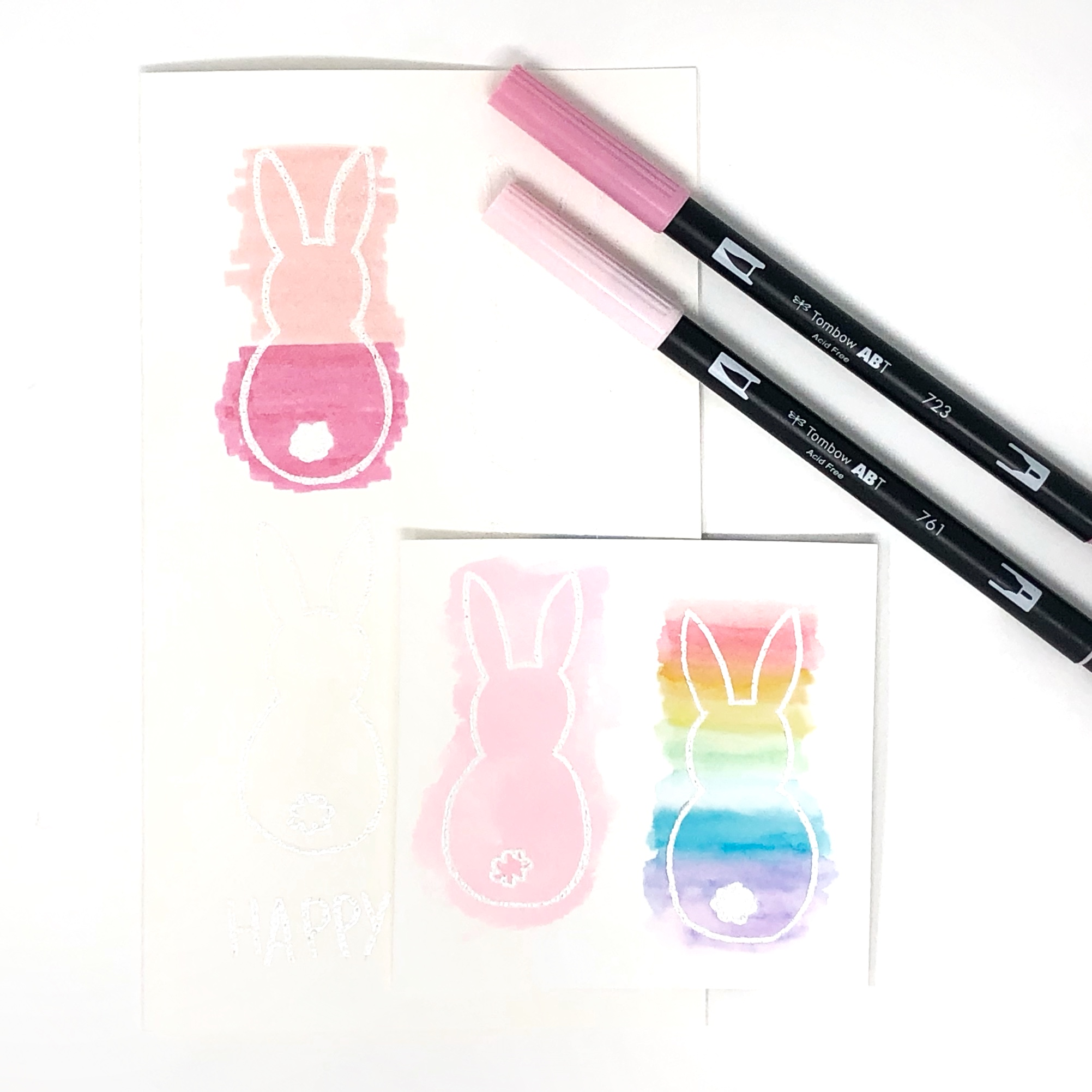 How to Make a Watercolor Easter Card by Jessica Mack of BrownPaperBunny