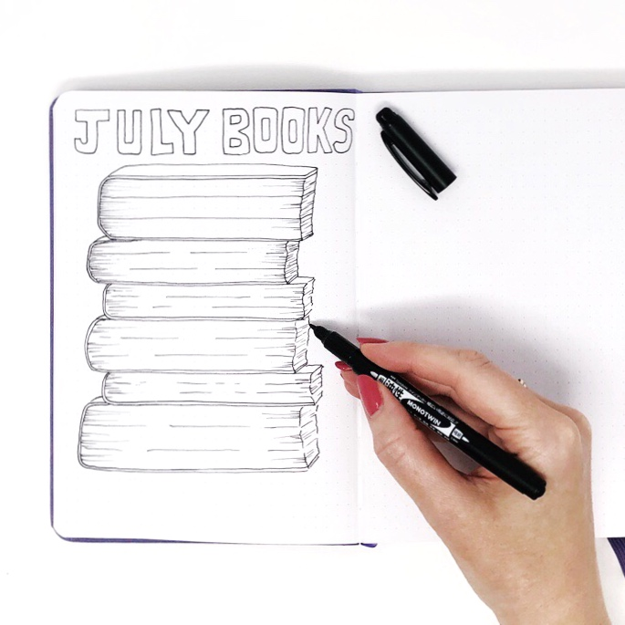 Create a BuJo Book Tracker by Jessica Mack of BrownPaperBunny