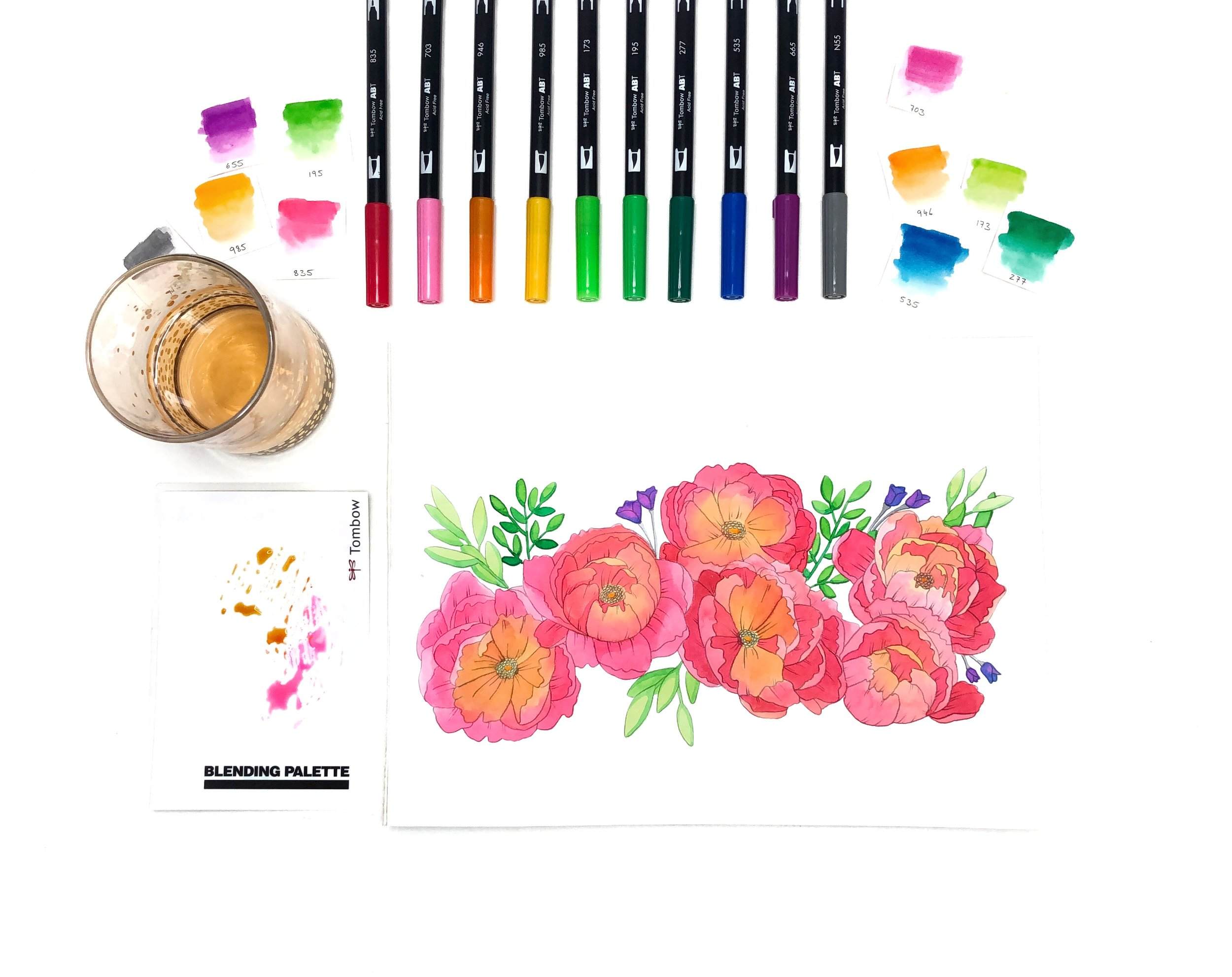 Exclusive Tombow Dual Brush Pen Packs for Michael's by Jessica Mack of BrownPaperBunny
