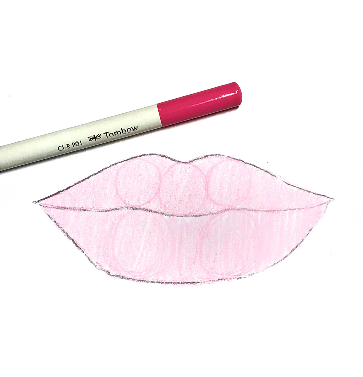 How to Draw Lips with Colored Pencils by Jessica Mack on BrownPaperBunny Blog