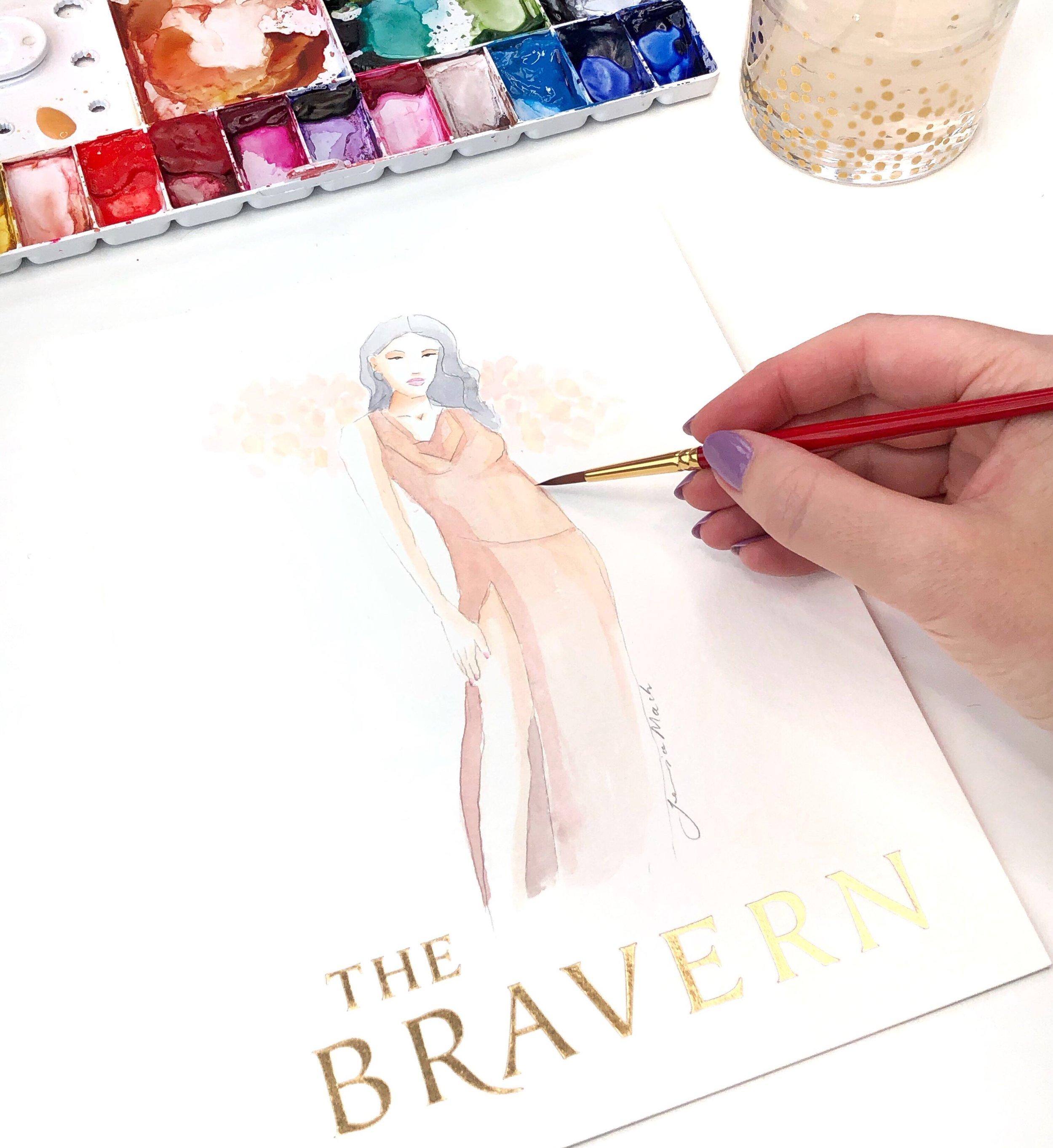 Live Fashion Illustration by Jessica Mack