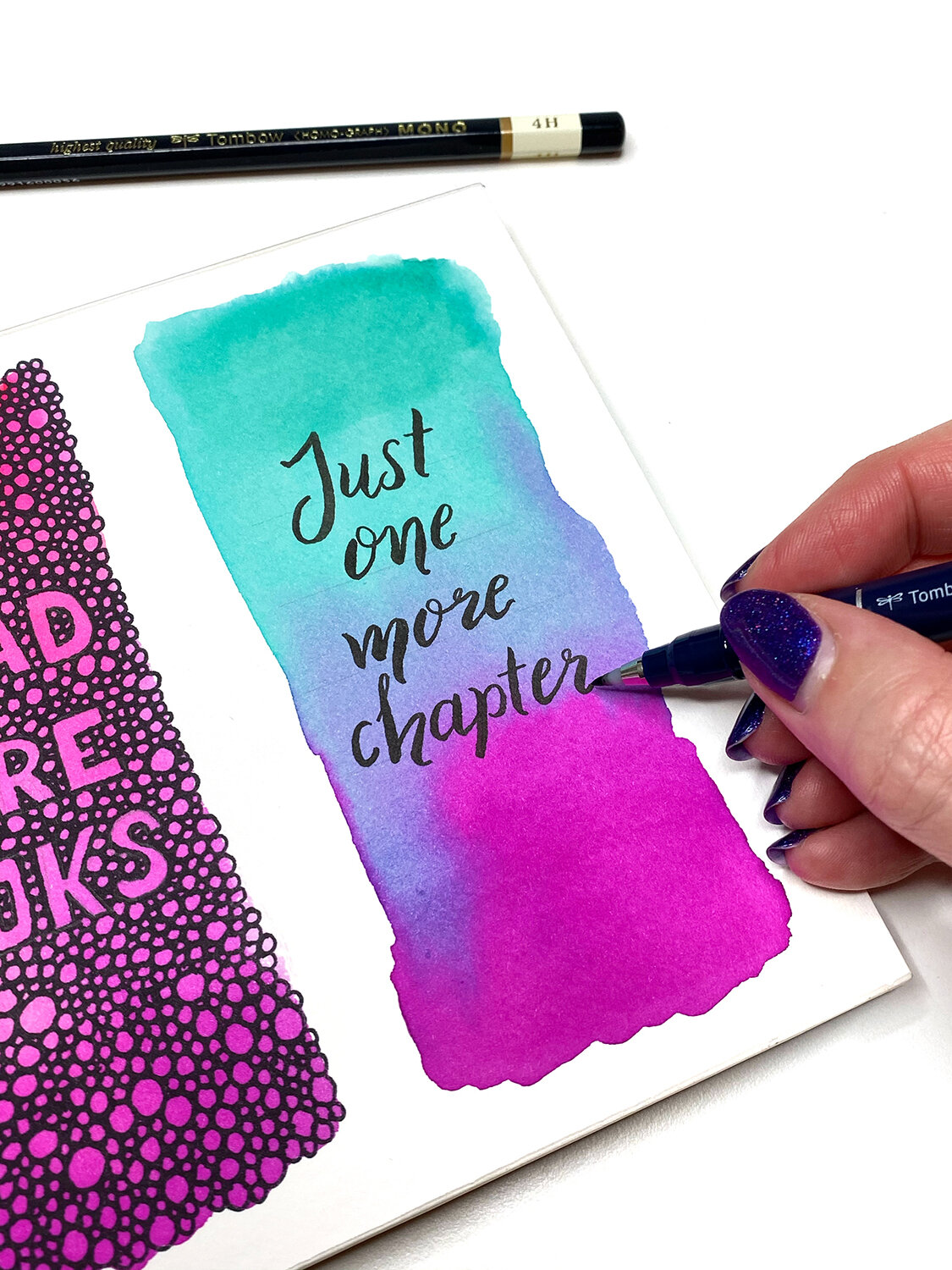 How to Make Watercolor Bookmarks by Jessica Mack on BrownPaperBunny
