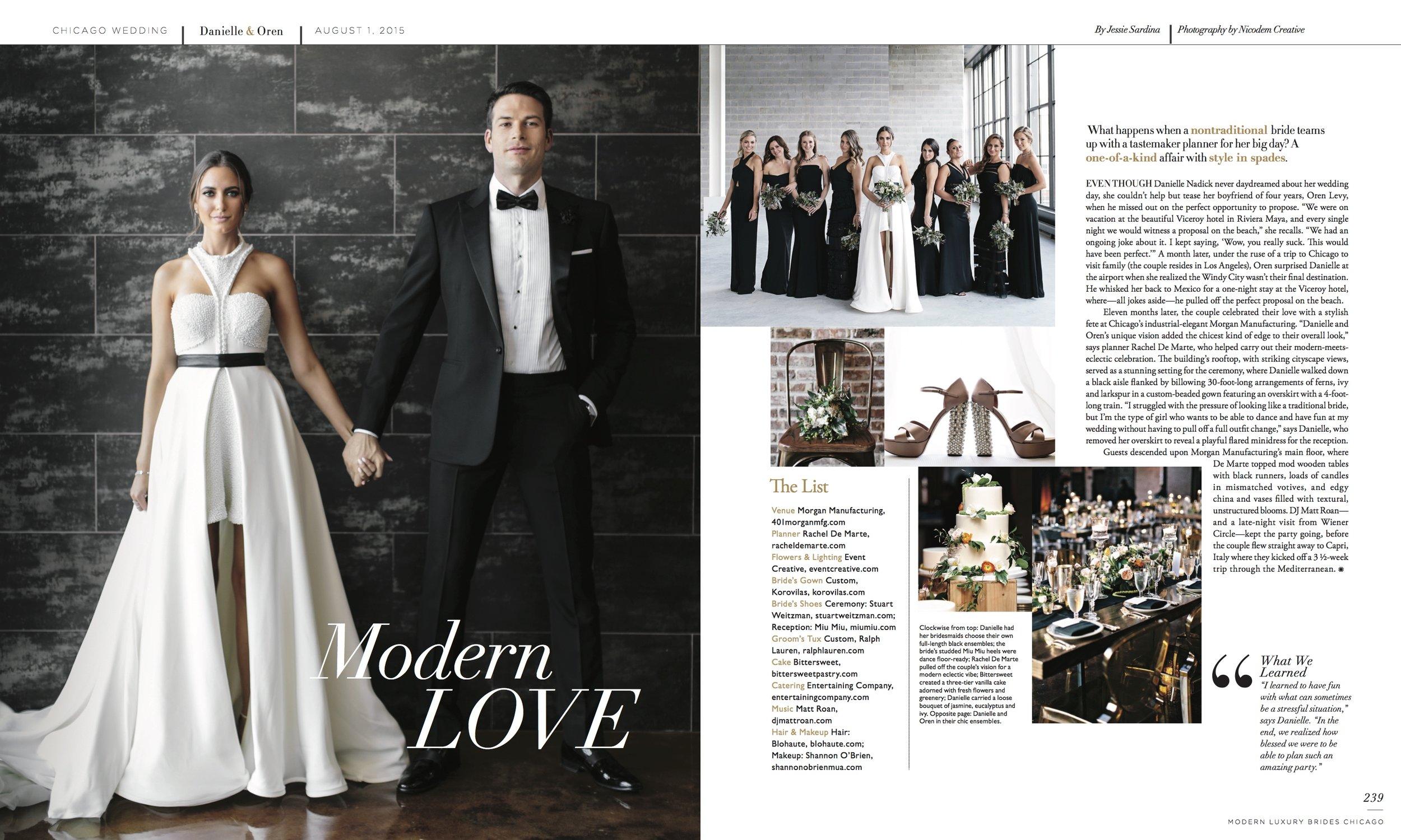 Danielle + Oren Modern Luxury Brides