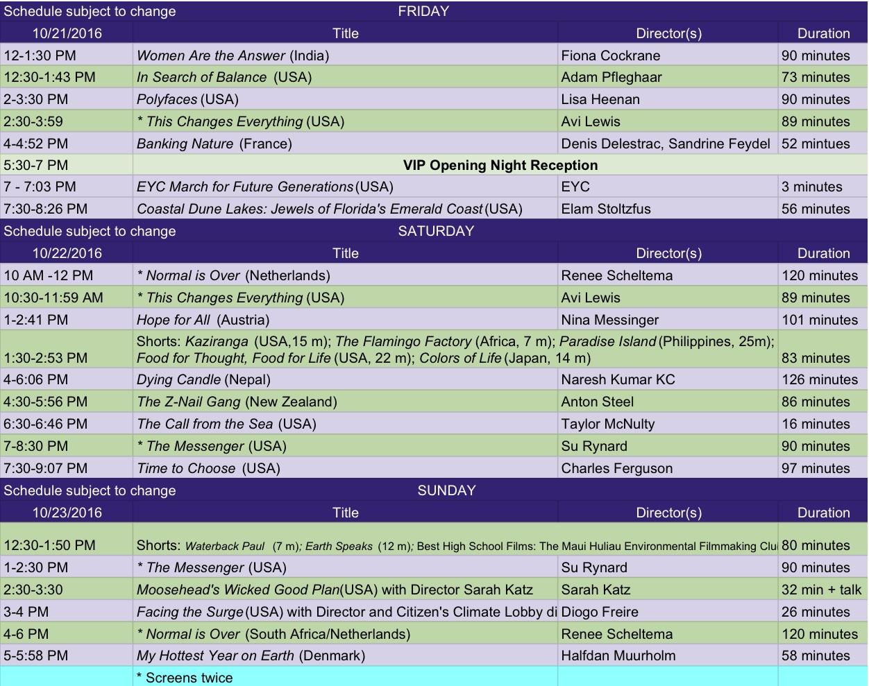 st. aug 2016 schedule