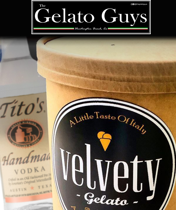 vodka infused gelato