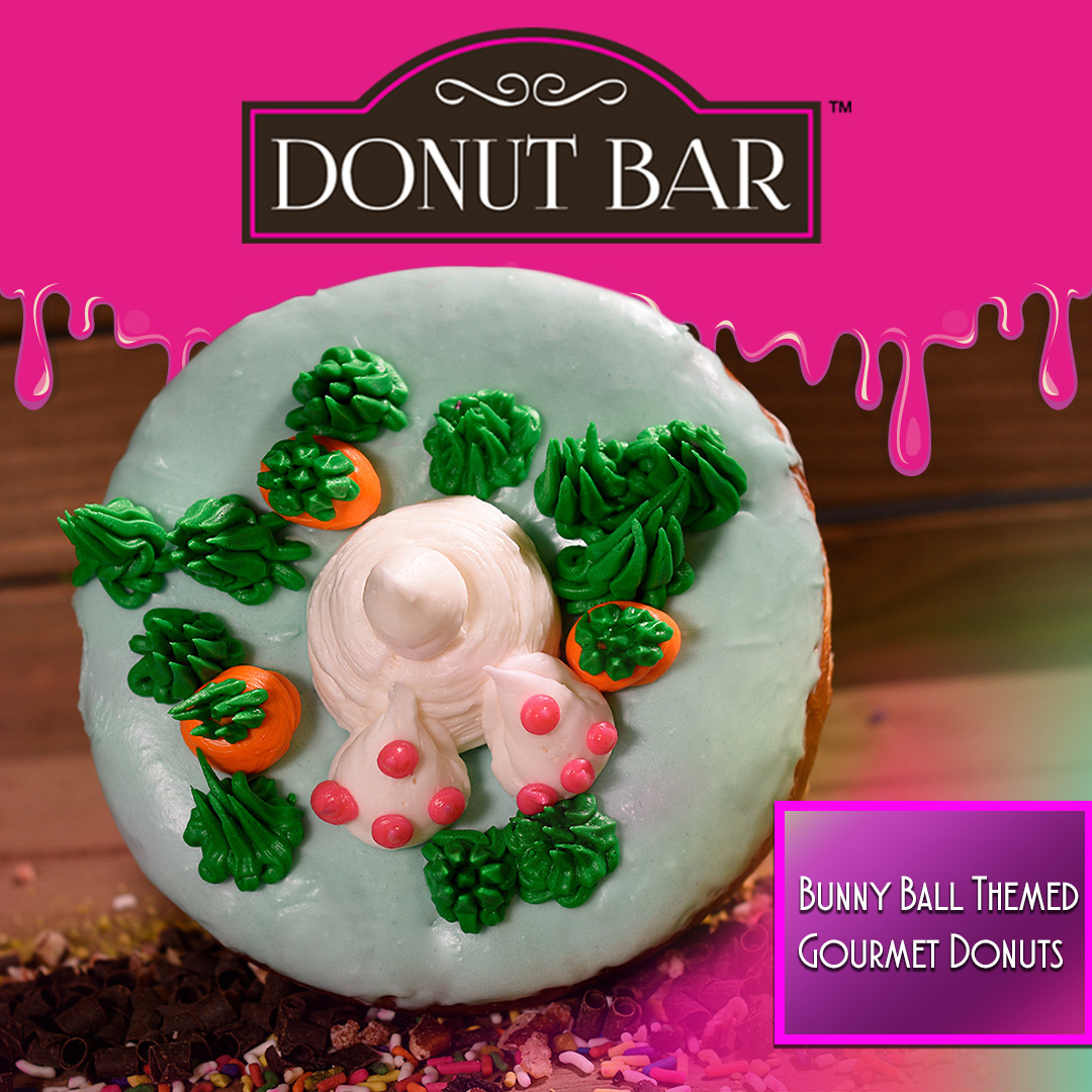 bunny ball themed gourmet donuts by donut bar
