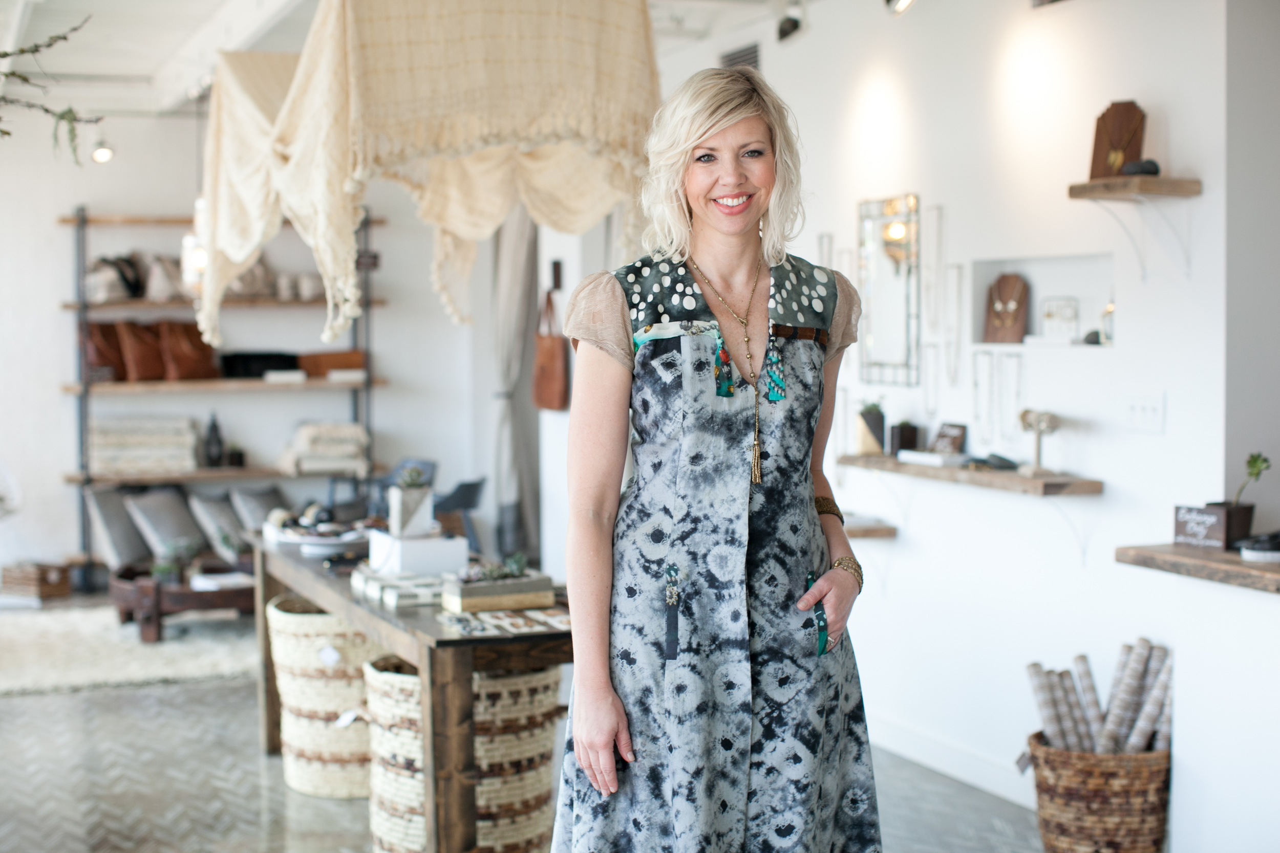 Kirsten photographed by  Kate Stafford  at the grand opening of the Raven + Lily Storefront Spring 2014