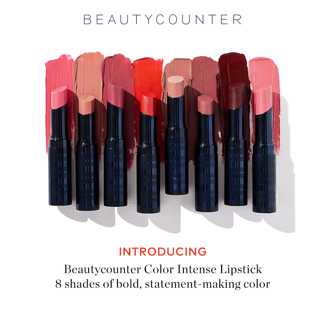 The  Color Intense Lipsticks   in Backstage  and  Girl's Night  are must haves for me. Backstage is a beige pink and Girl's Night is a bold red. They have a satin finish and are very moisturizing unlike other long wear lipsticks that can leave your lips feeling super dry and uncomfortable. I like to apply a little of the  sheer lipstick  or  lipgloss  over these to customize the colors.