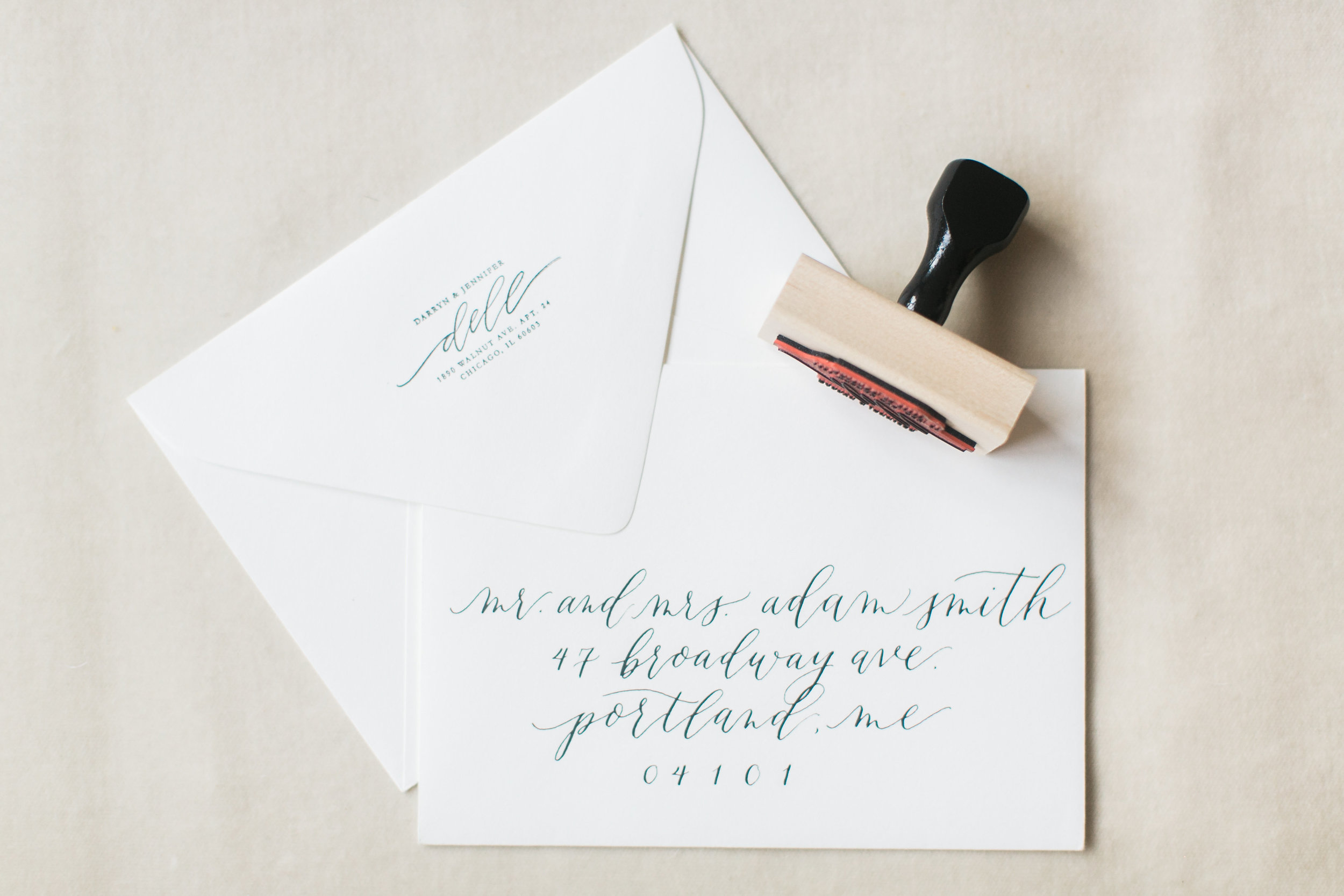 Custom Calligraphy Hand Lettered Rubber Stamp