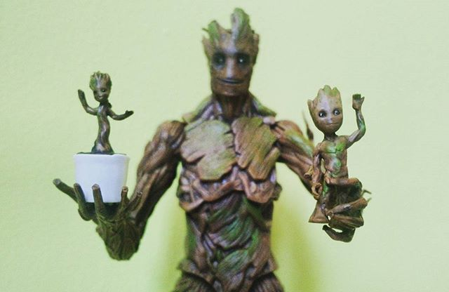 I am Groots  #marvellegends #gotg2 #actionfigures #groot #babygroot