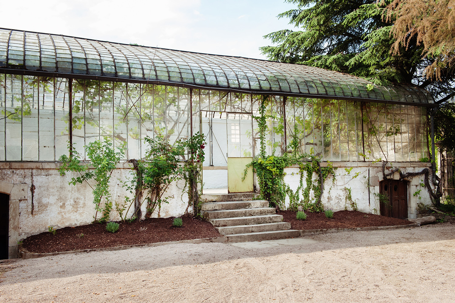 The rustic Orangerie, located in the courtyard of Château de Wintrange.