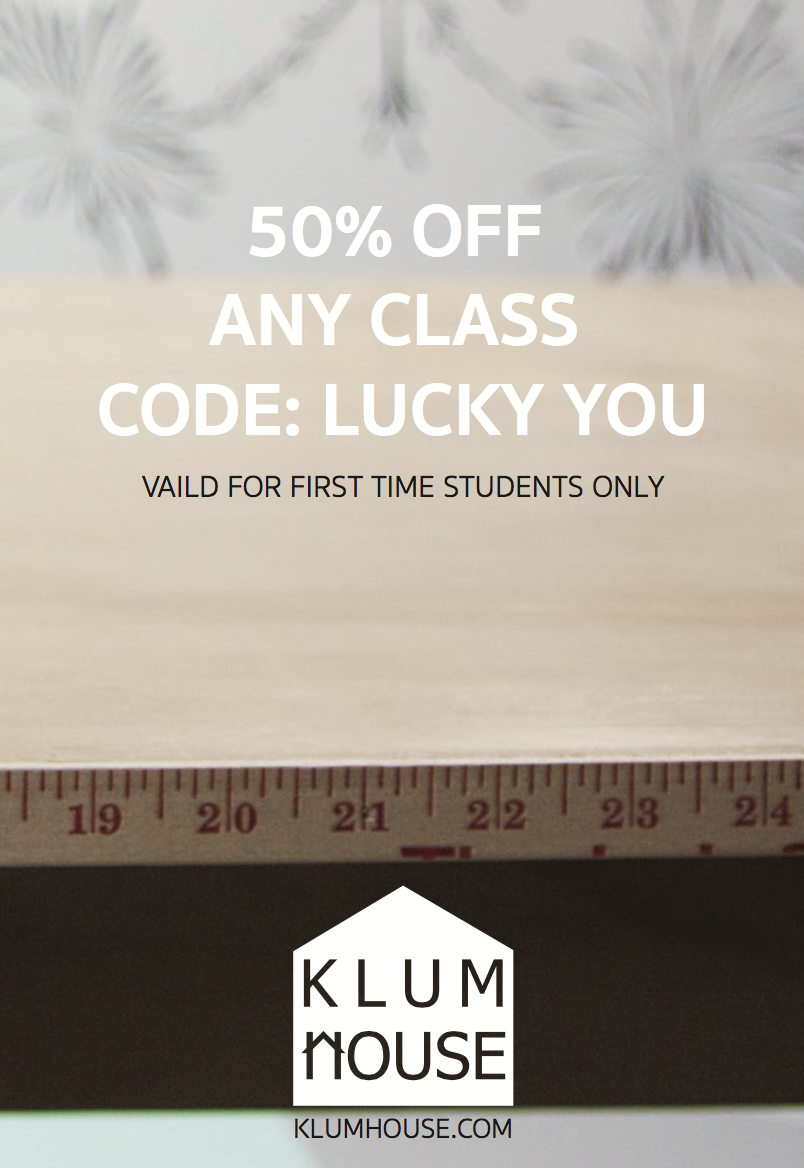 50 OFF ANY CLASS