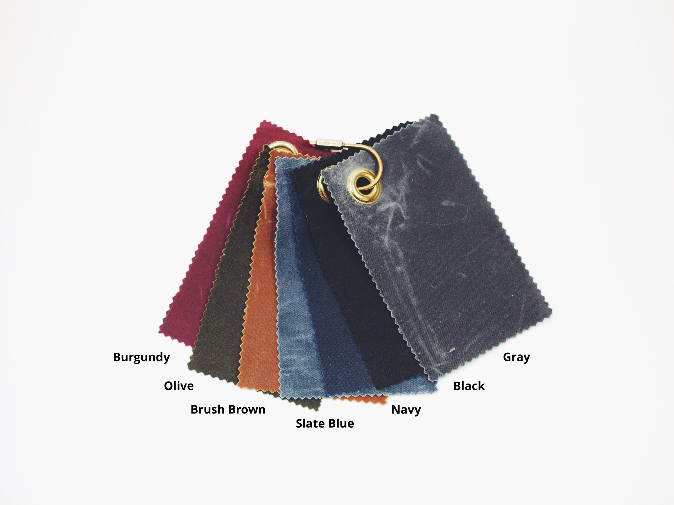 Waxed Canvas Fabric Color Choices
