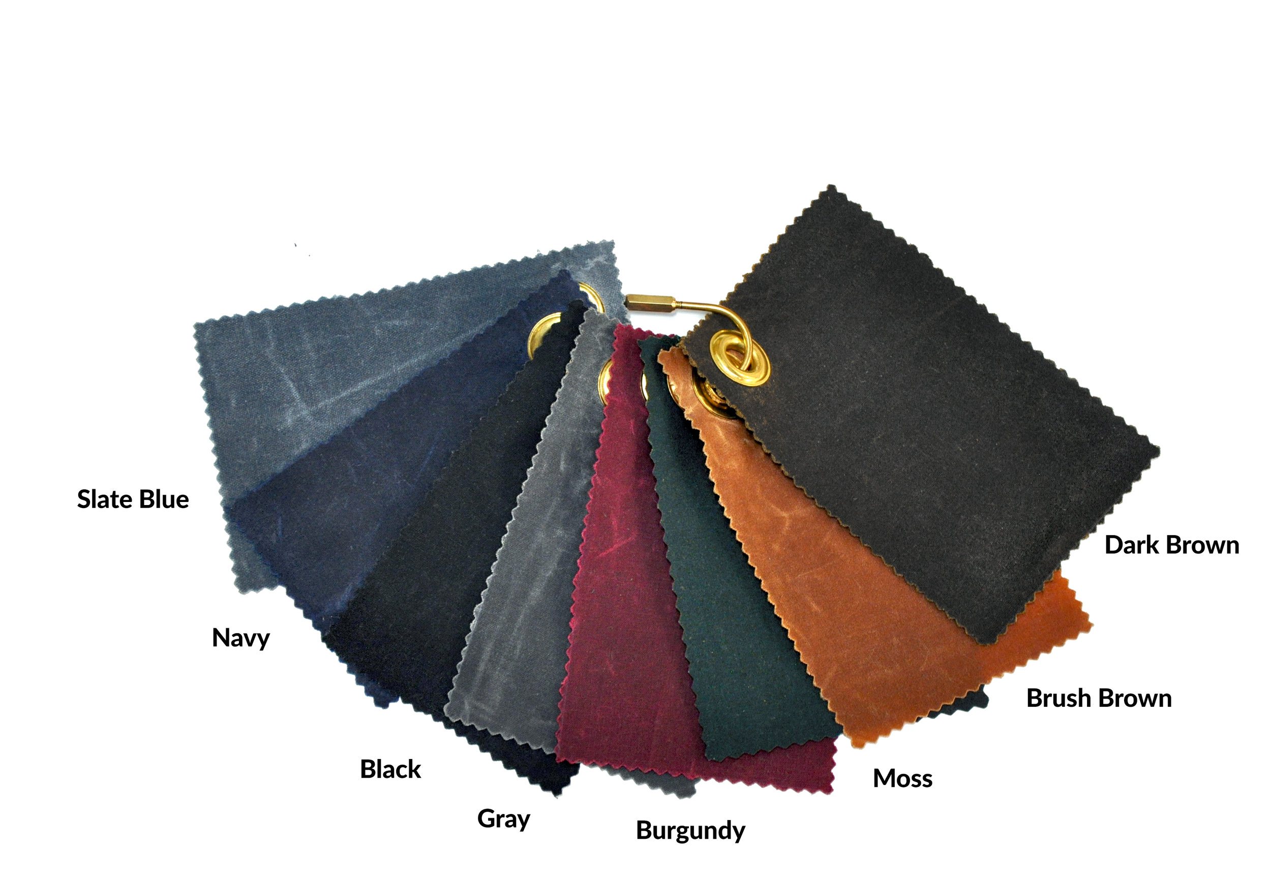 Waxed Canvas Fabric Colors